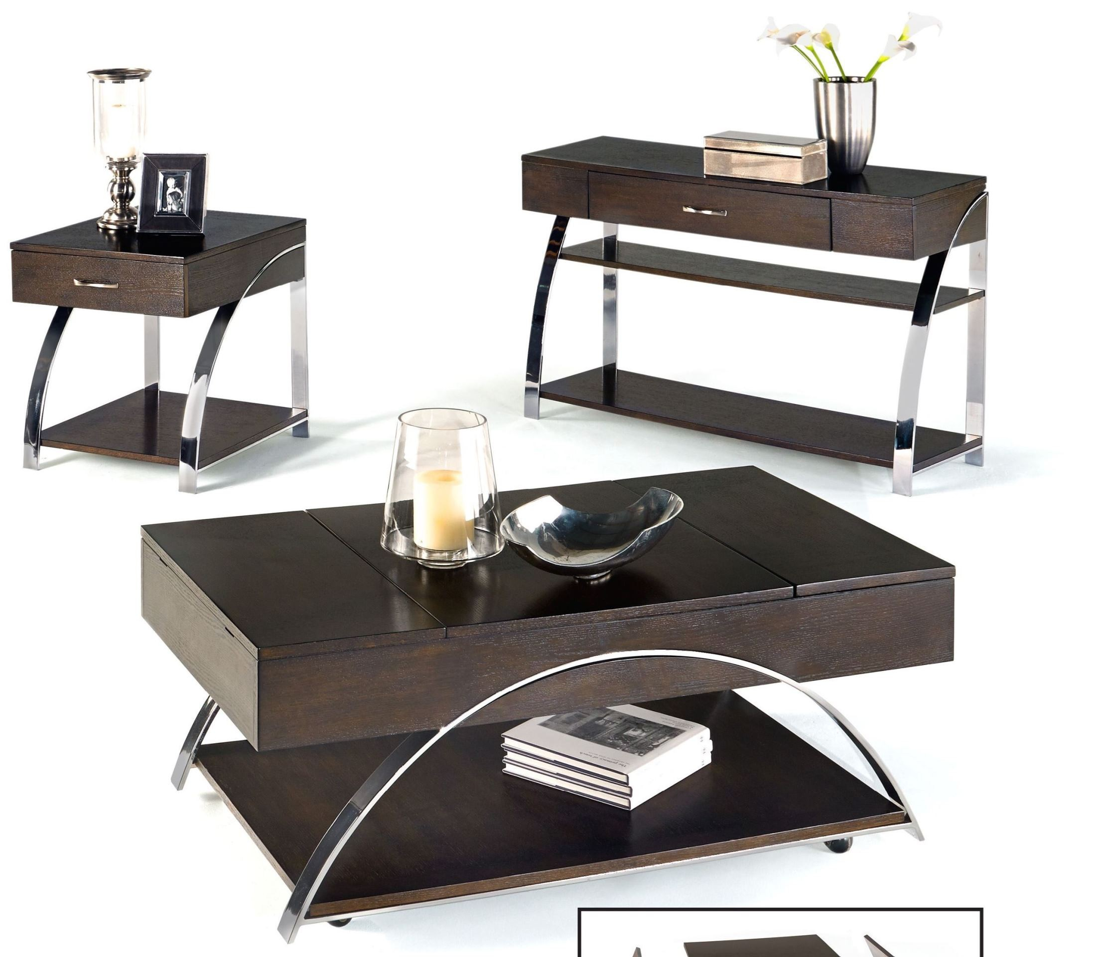 P428 15 Showplace Cappuccino Occasional Table Set