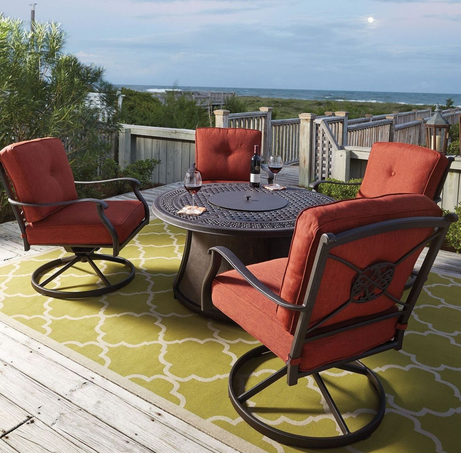 Burnella Gray Round Fire Pit Table from Ashley