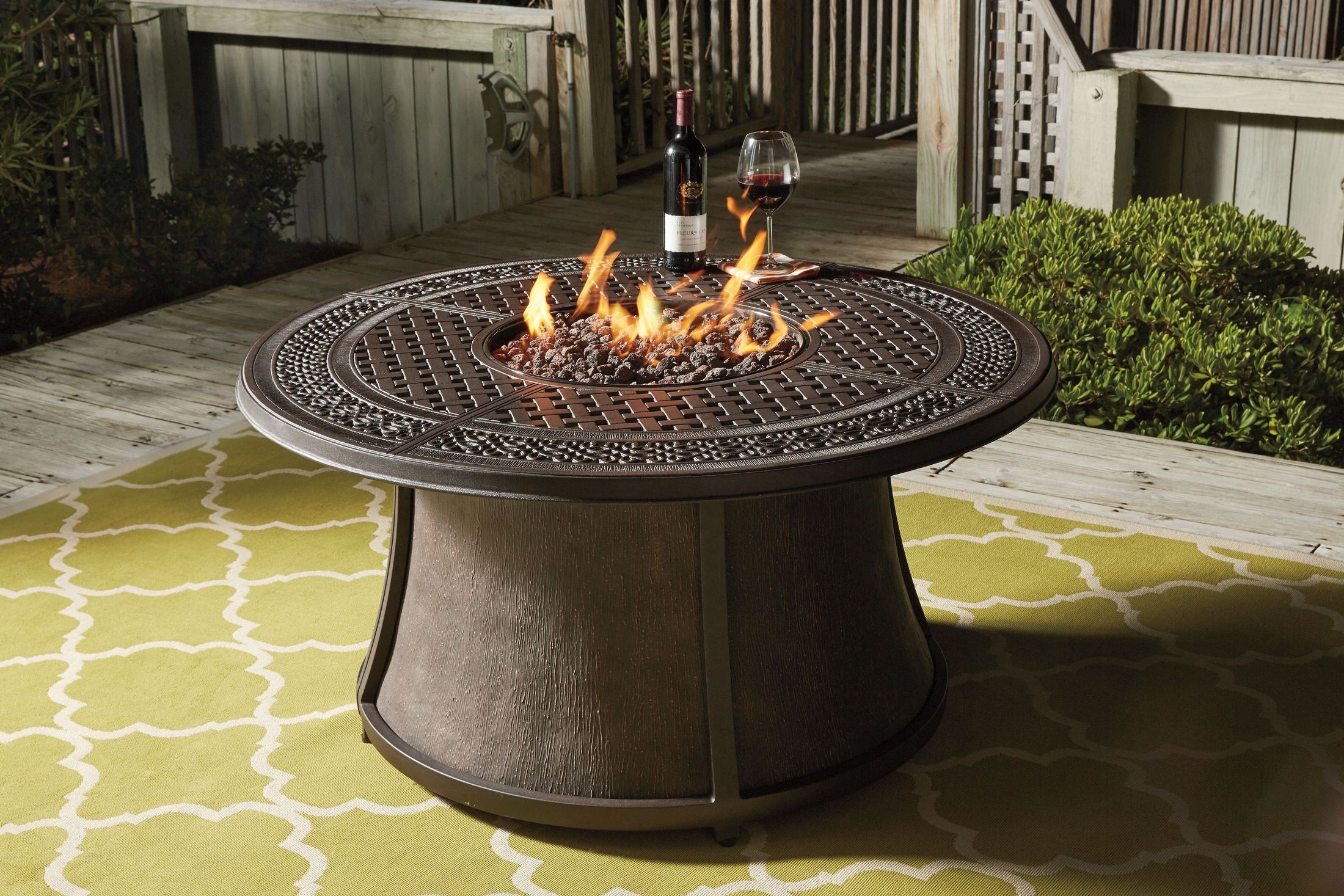 Burnella Round Outdoor Fire Pit Table From Ashley
