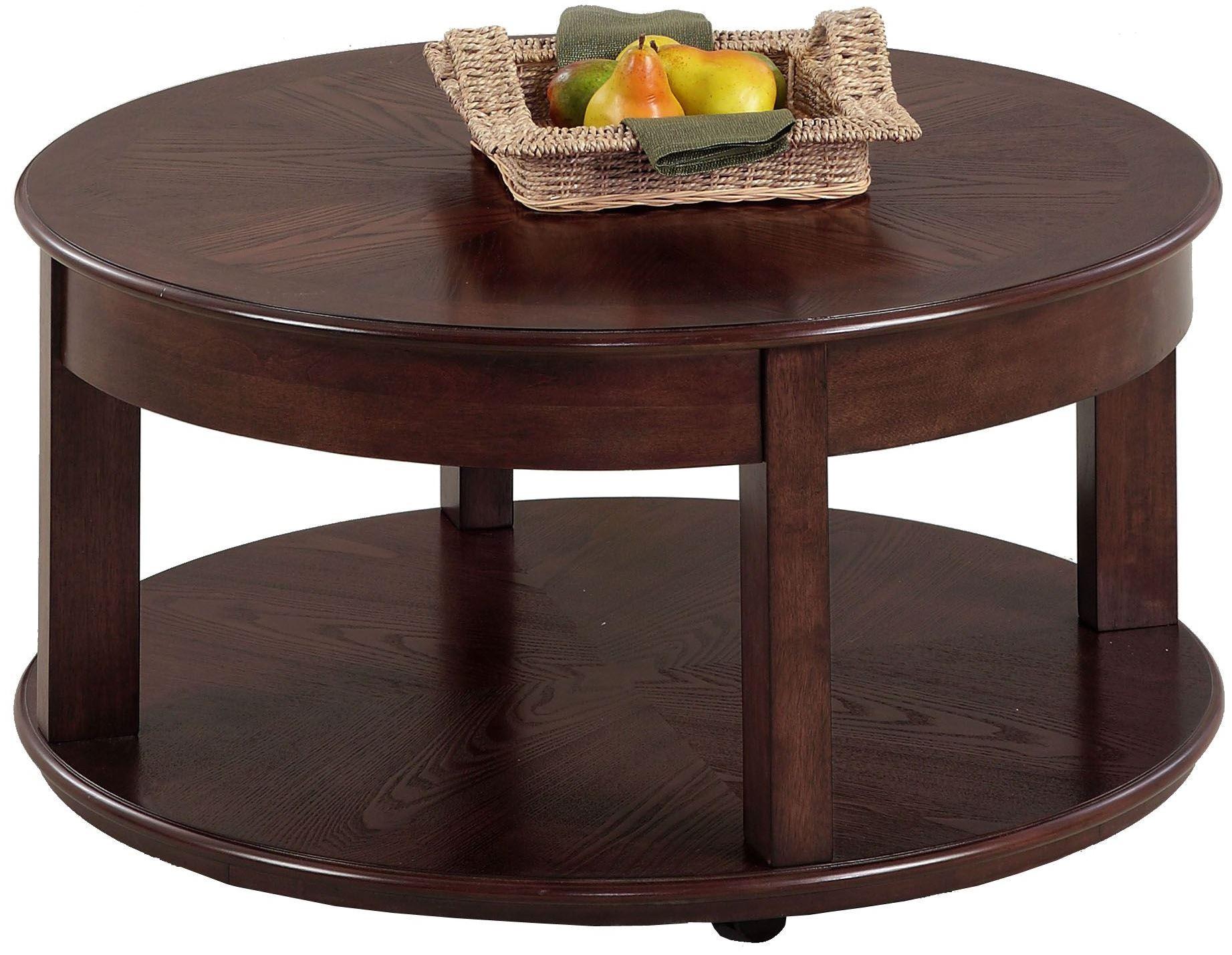 Sebring Medium Ash Round Cocktail Table From Progressive