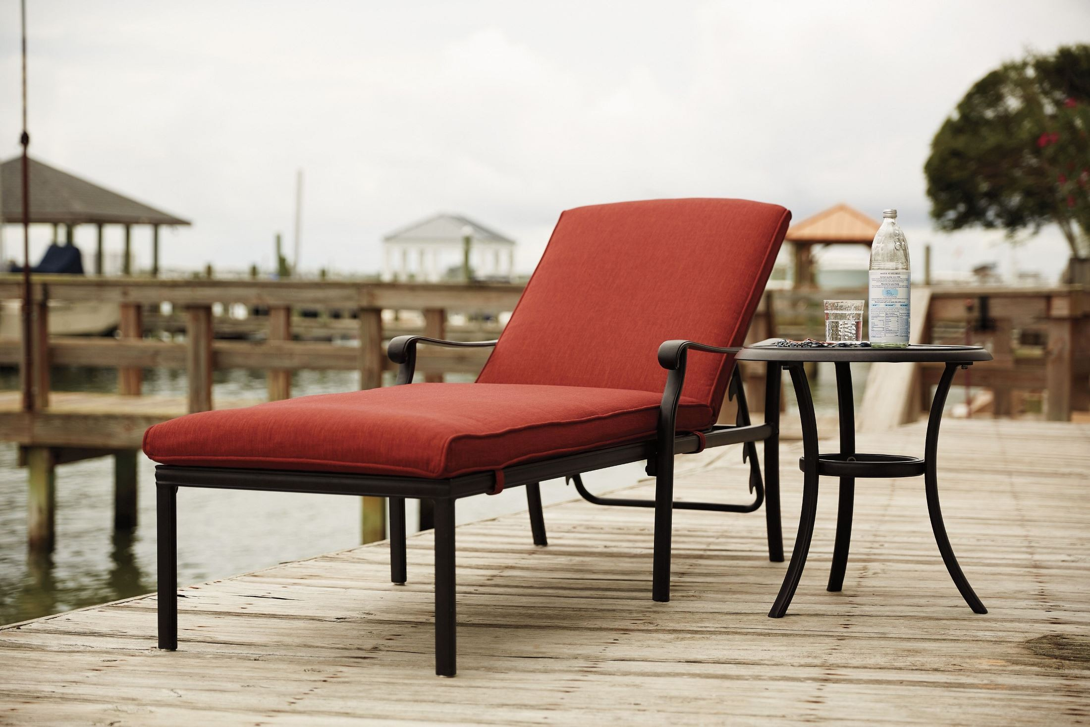 Tanglevale Burnt Orange Outdoor Chaise Lounge From Ashley