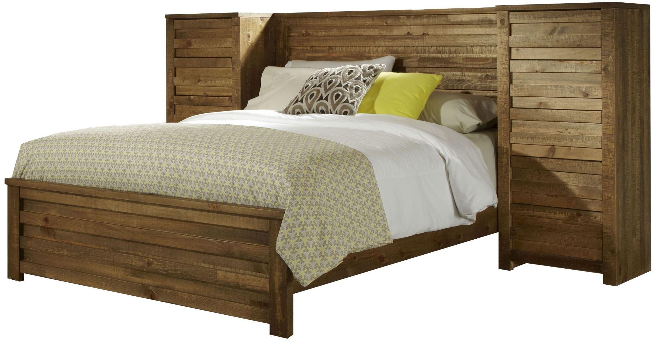 Melrose Driftwood Panel Bedroom Set From Progressive
