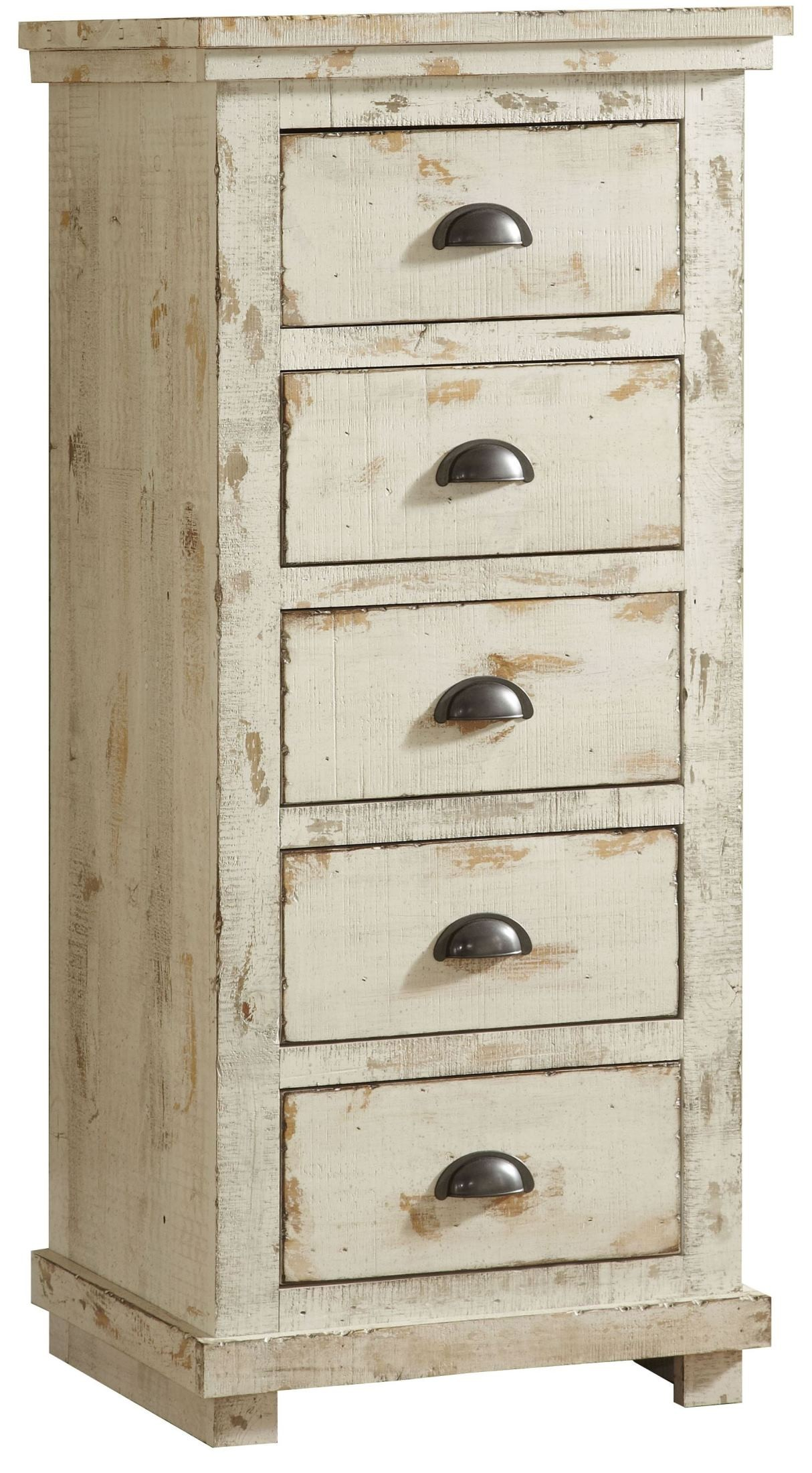 Willow Distressed White Slat Bedroom Set: Willow Distressed White Lingerie Chest From Progressive