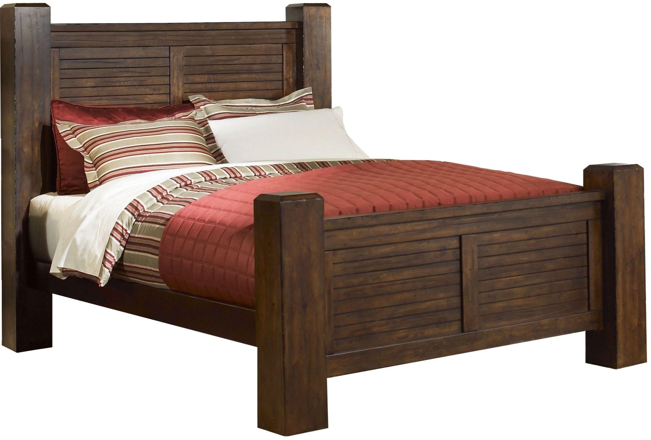 Trestlewood Mesquite Pine King Poster Bed from Progressive Furniture ...