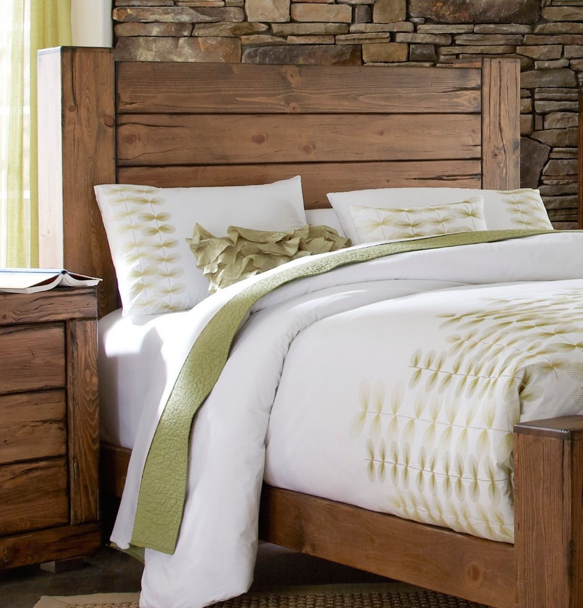 Bedroom sets coleman furniture - Maverick Driftwood Panel Bedroom Set