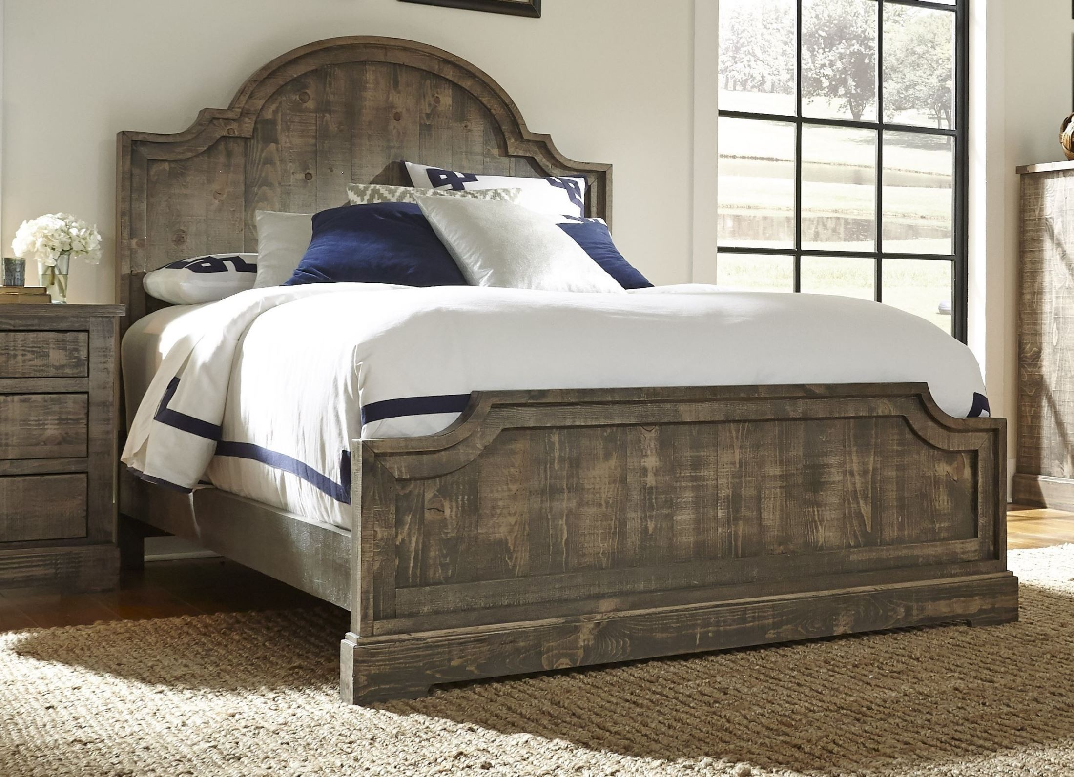 Meadow Weathered Gray King Panel Bed from Progressive Furniture