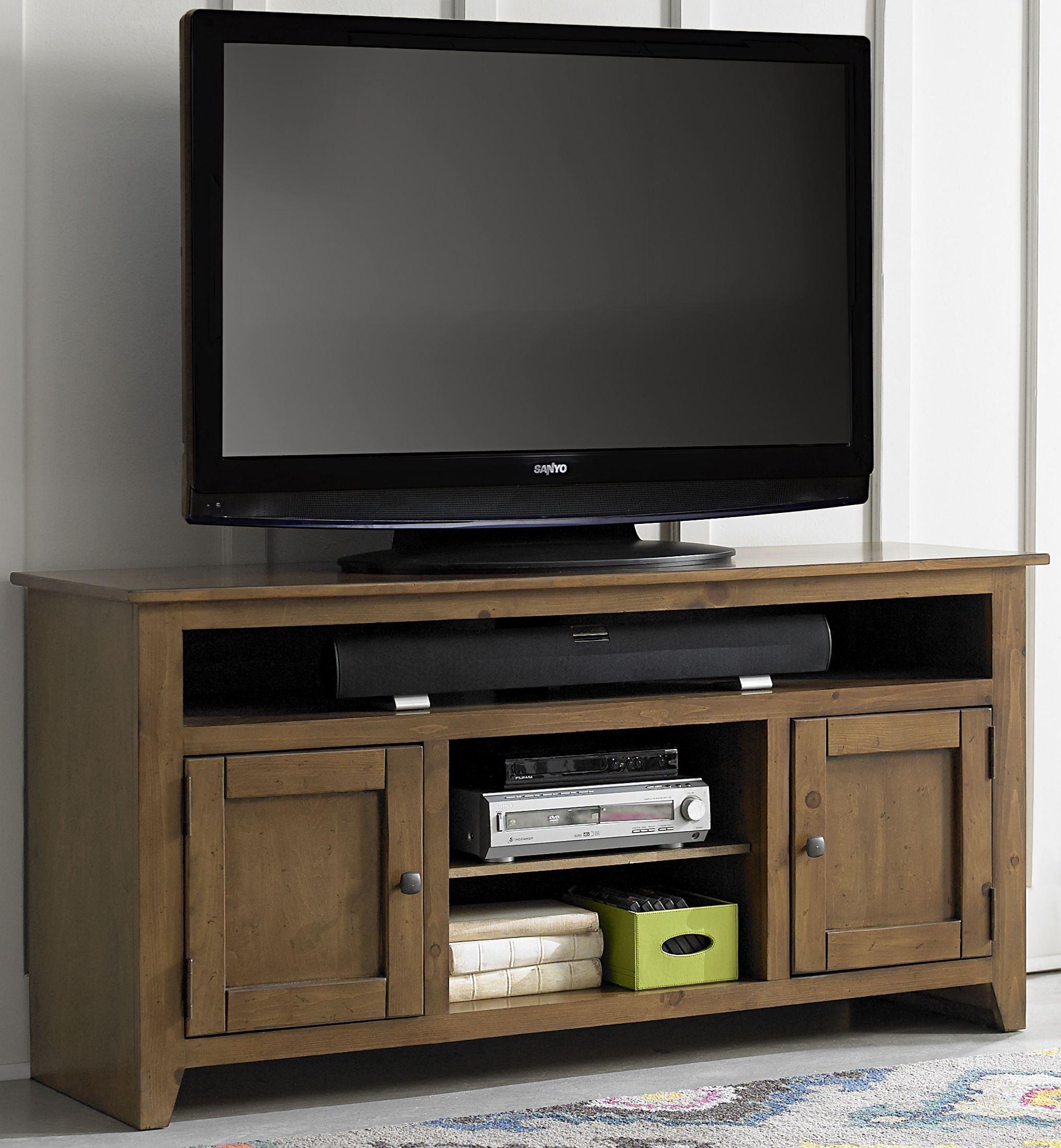 Rio Bravo 58 Medium Pine Entertainment Console From Progressive Furniture Coleman Furniture