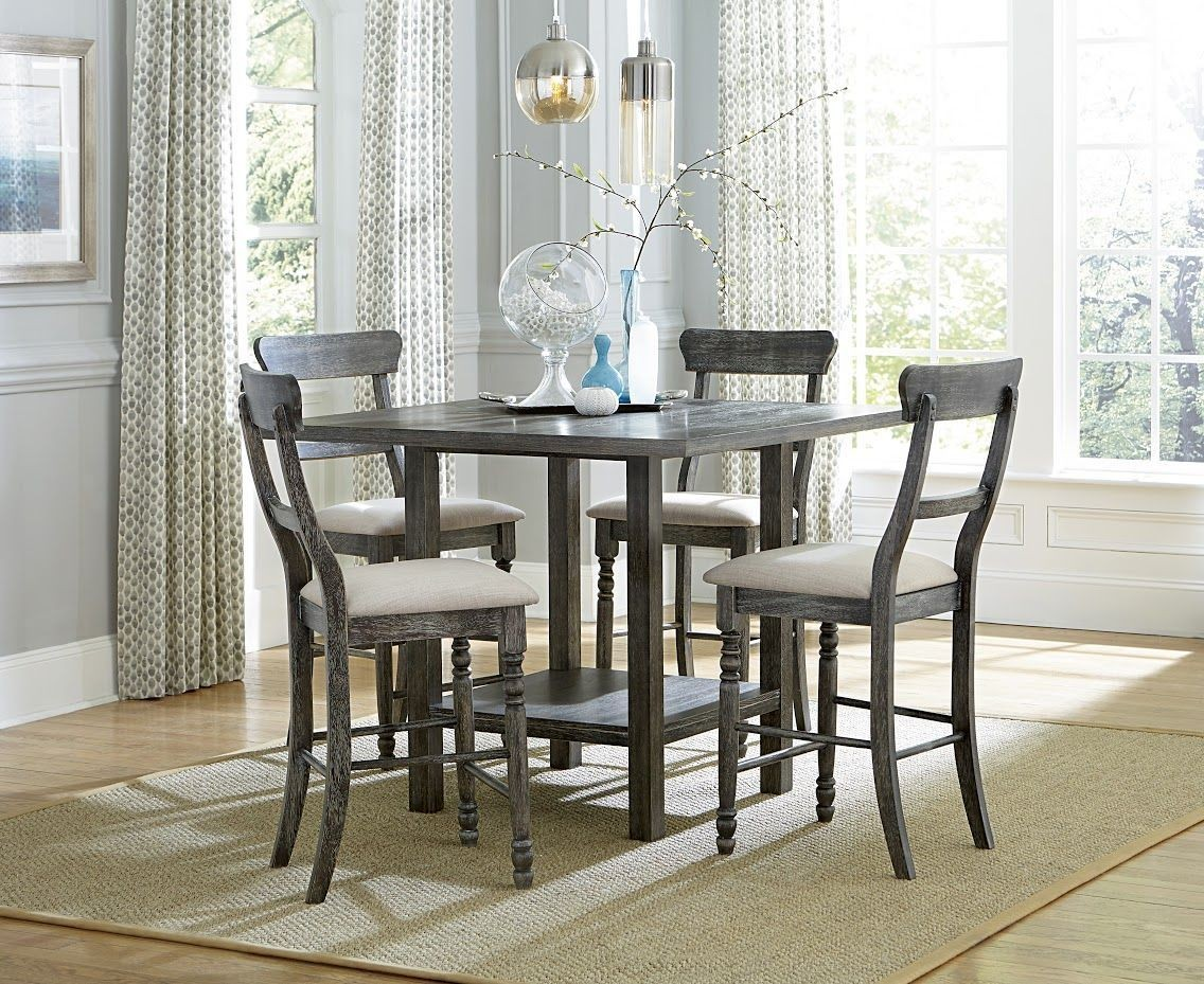 Muses Dove Gray Counter Height Dining Room