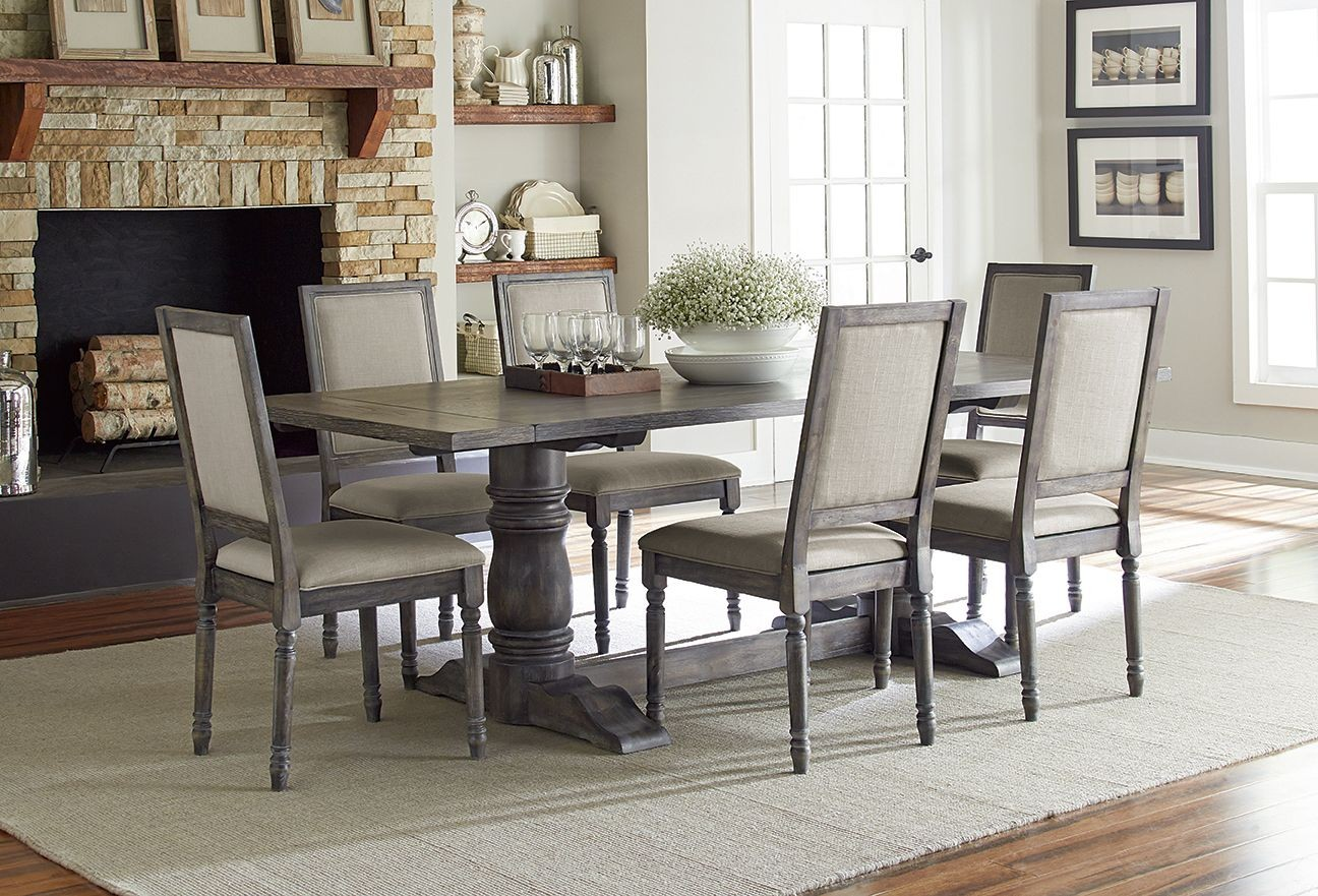 Muses Dove Grey Muses Rectangular Dining Table from  : p836recttablewithuphchairs from colemanfurniture.com size 1296 x 881 jpeg 321kB