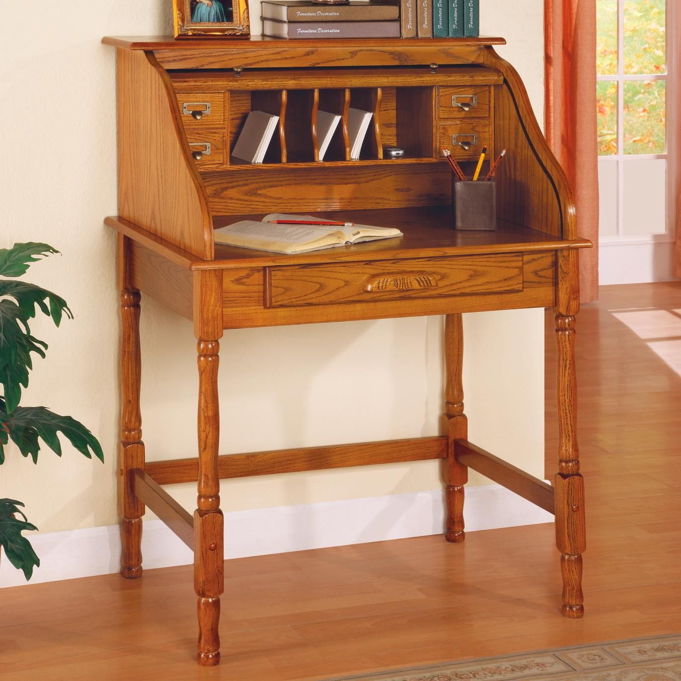 High Quality Palmetto Oak Home Office Secretary Desk   5301N