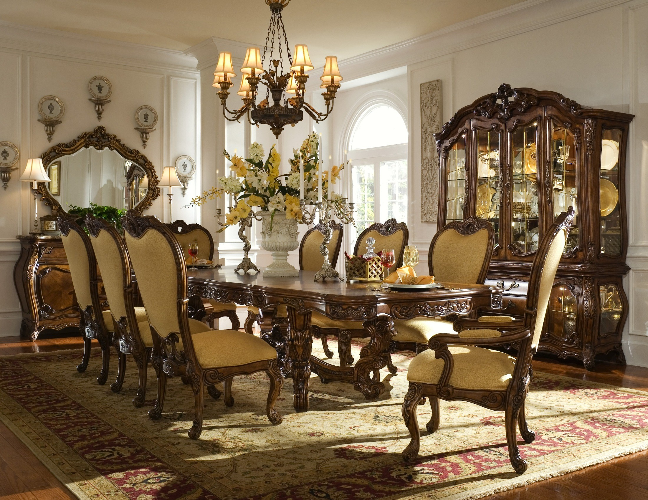 Palais royale rectangular extendable dining room set from for Dining room looks