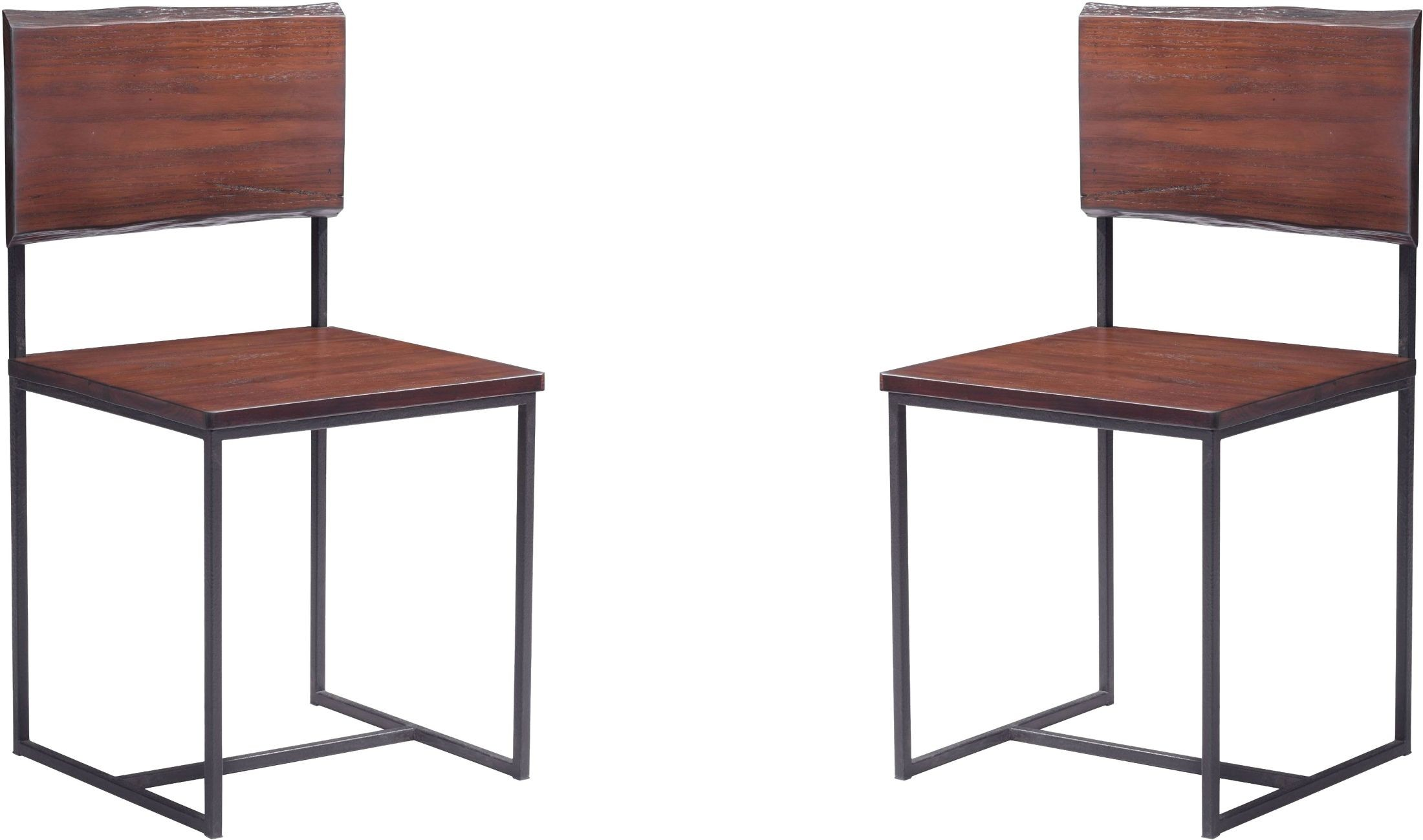 Distressed White Oak Dining Chairs: Papillion Distressed Cherry Oak Dining Chair Set Of 2 From