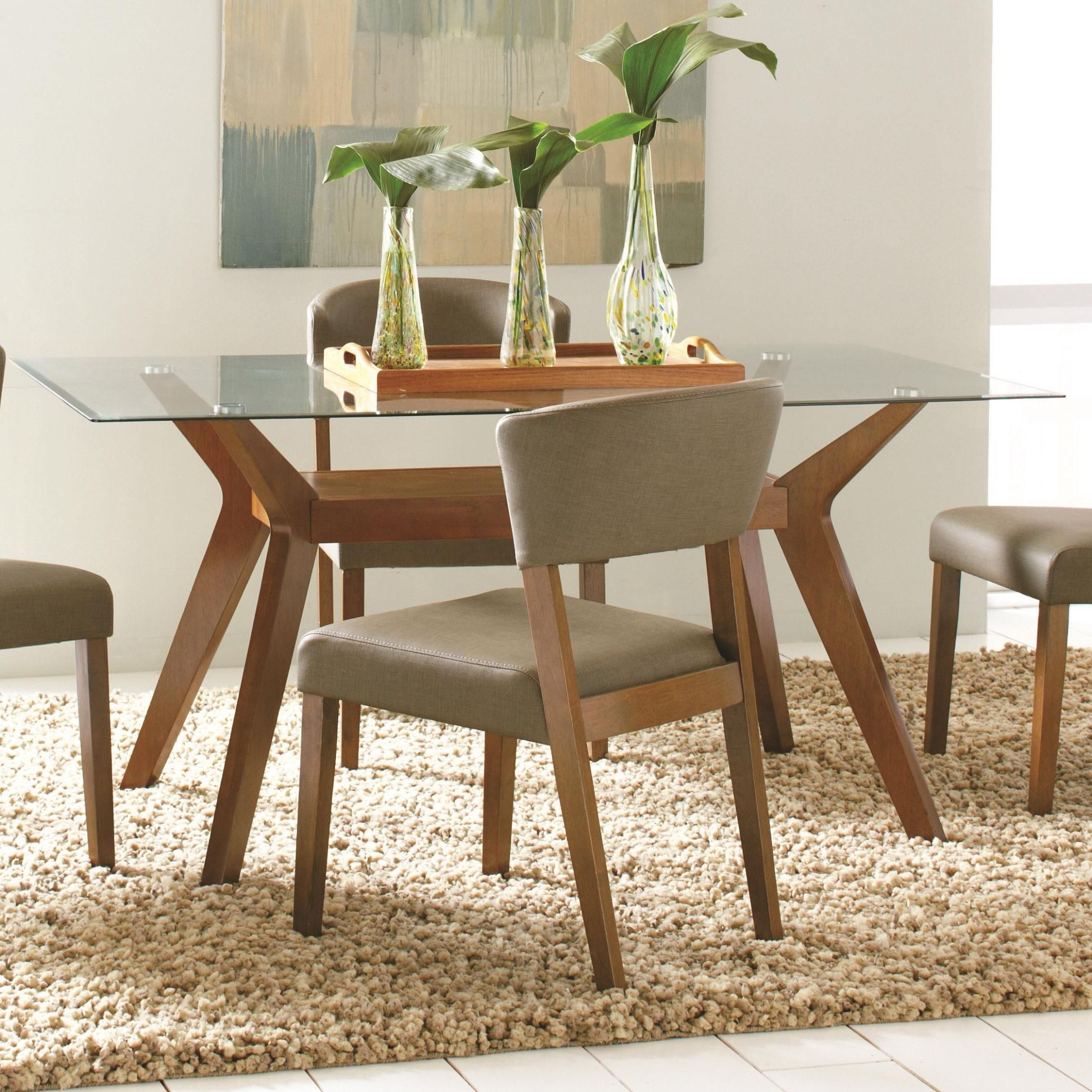 Paxton Rectangular Glass Dining Table Coaster Furniture