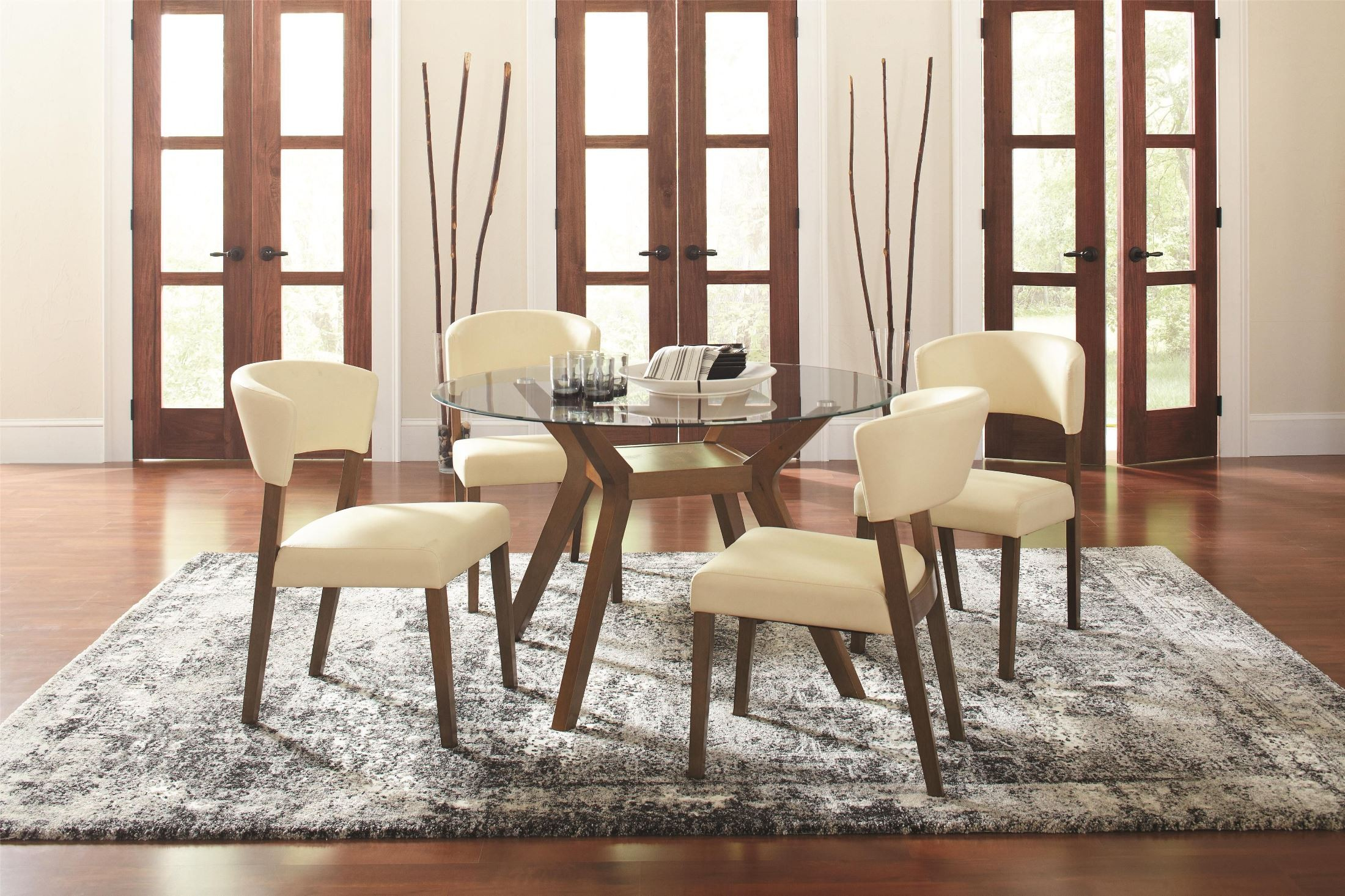 Paxton Round Glass Dining Table From Coaster 122180