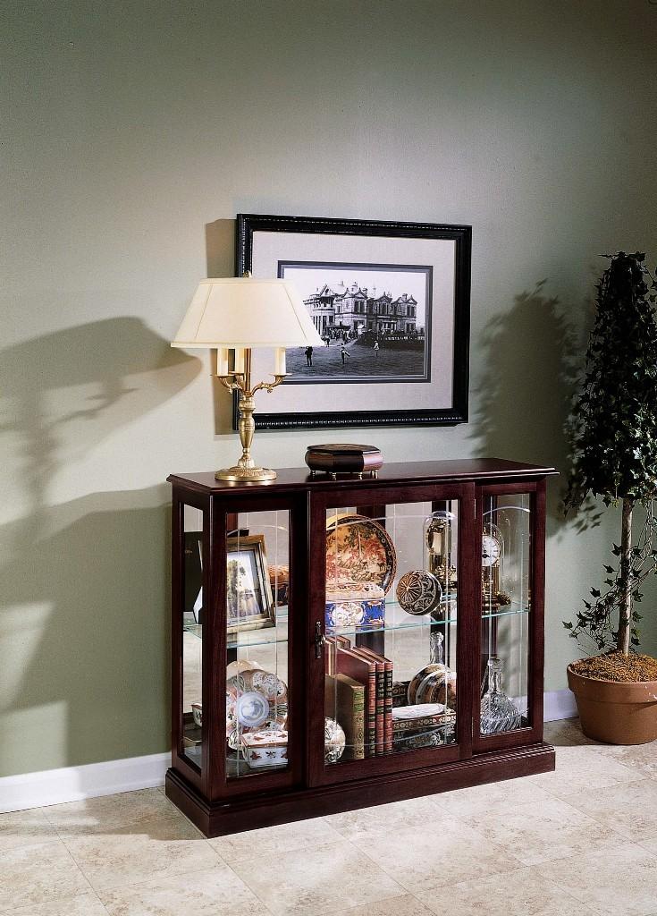 Ridgewood Cherry Trophy Display Case From Pulaski 6705