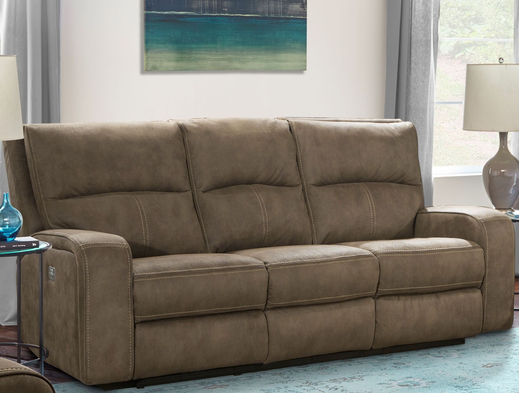 Polaris Kahlua Dual Power Reclining Sofa From Parker