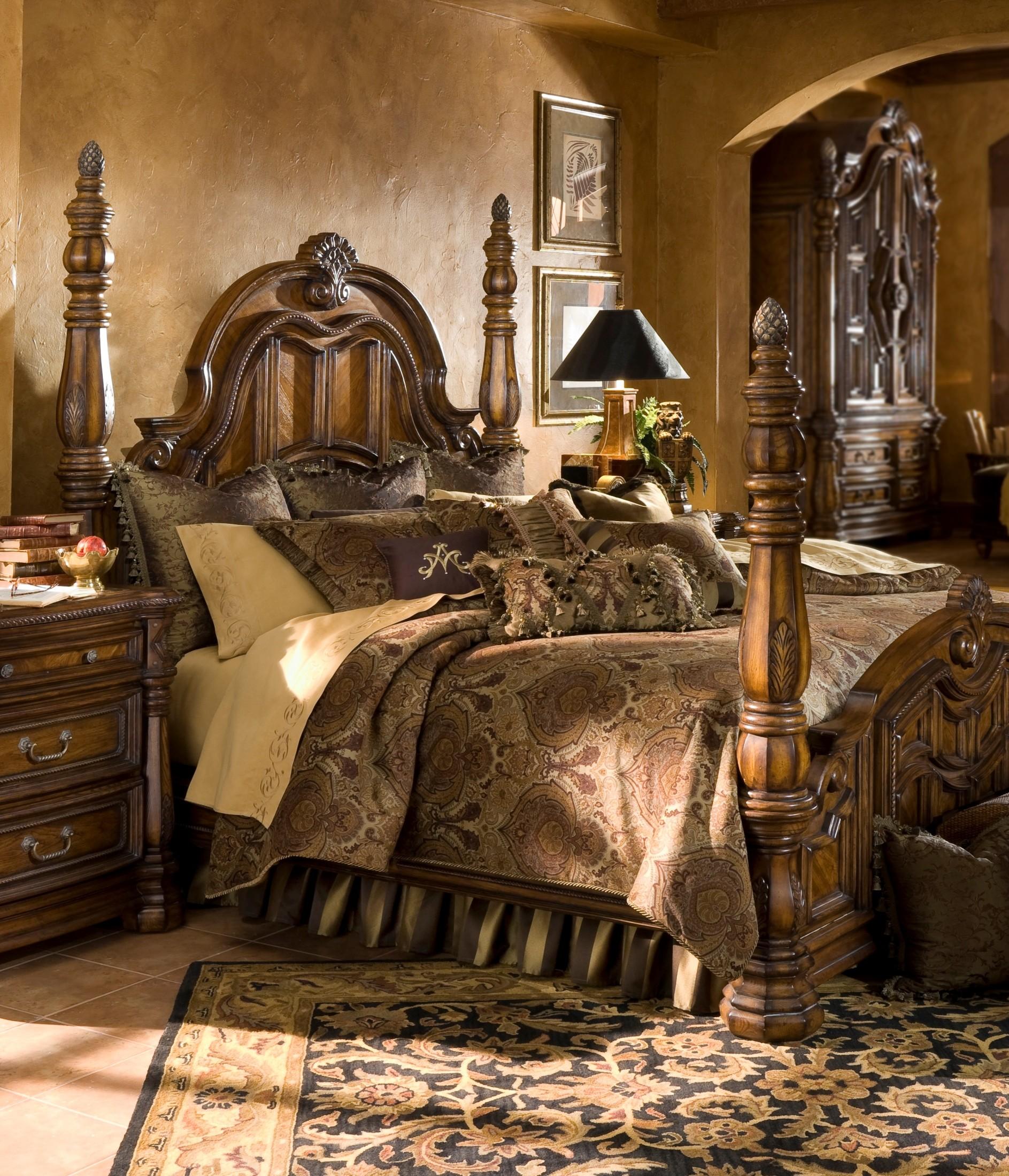 Pontevedra queen bedding set 12pc from aico bcs qs12 for Sala queen pontevedra