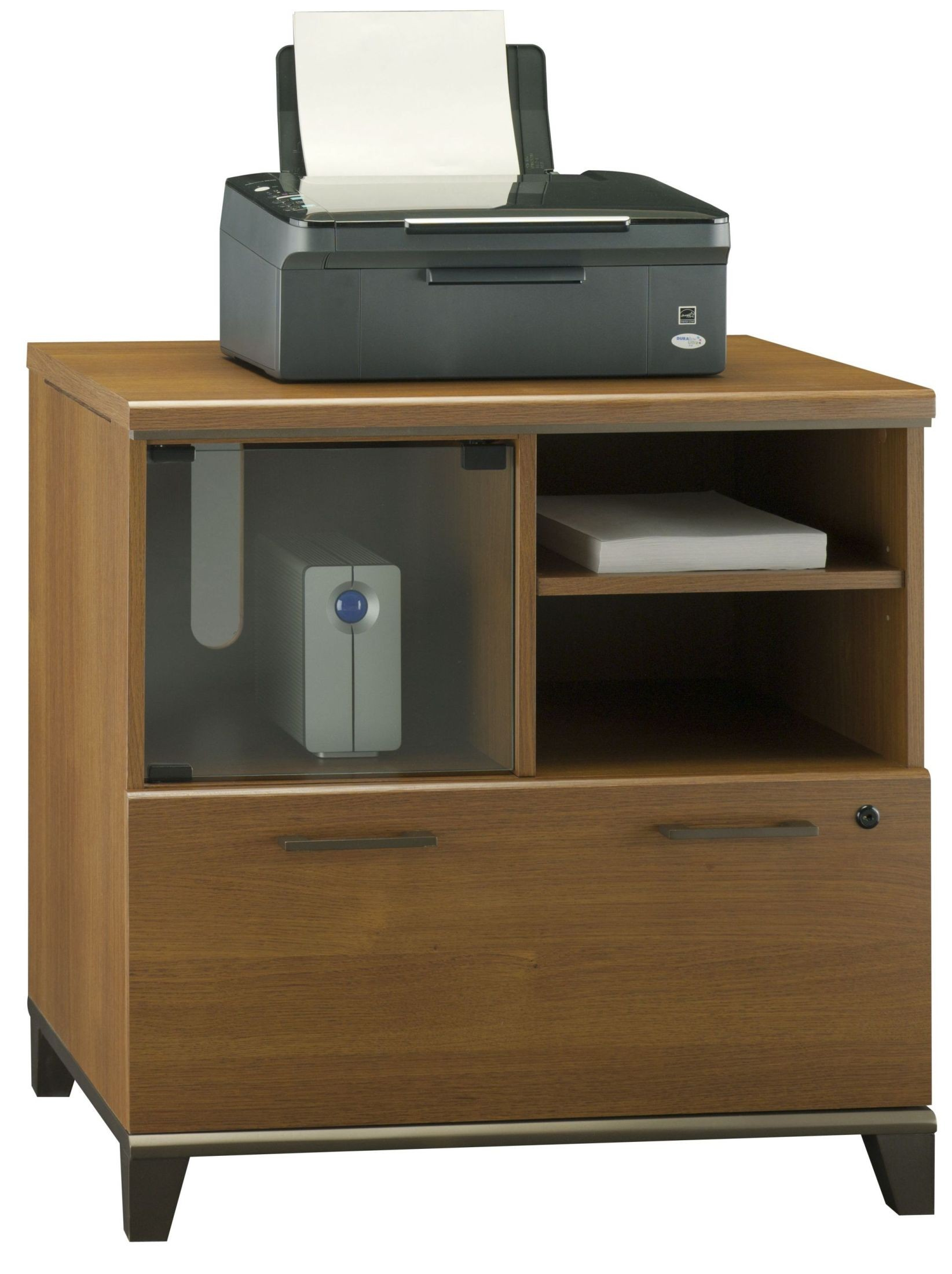 Achieve Warm Oak Lateral File/Printer Stand From Bush (PR67390) | Coleman  Furniture