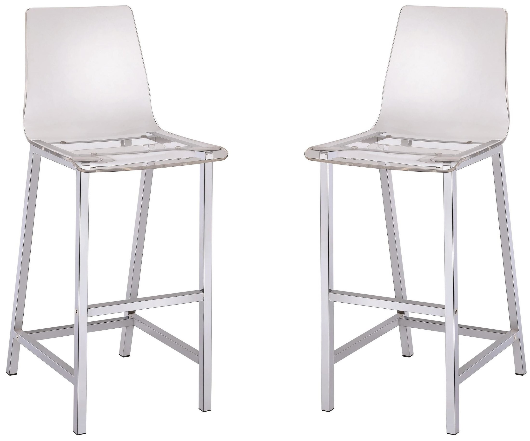 Clear Bar Stool Set Of 2 From Coaster Coleman Furniture