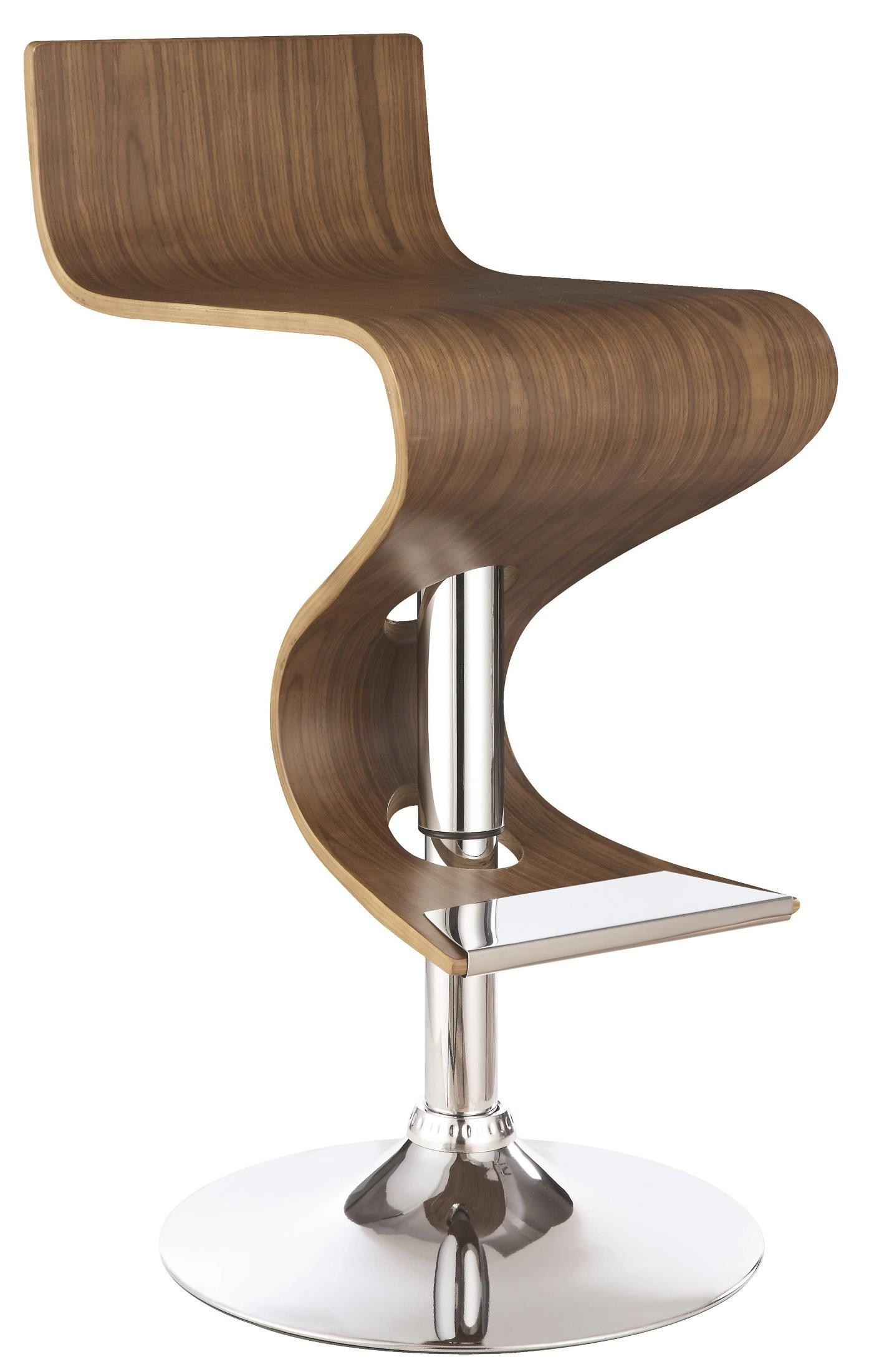 Walnut Adjustable Bar Stool From Coaster 100396
