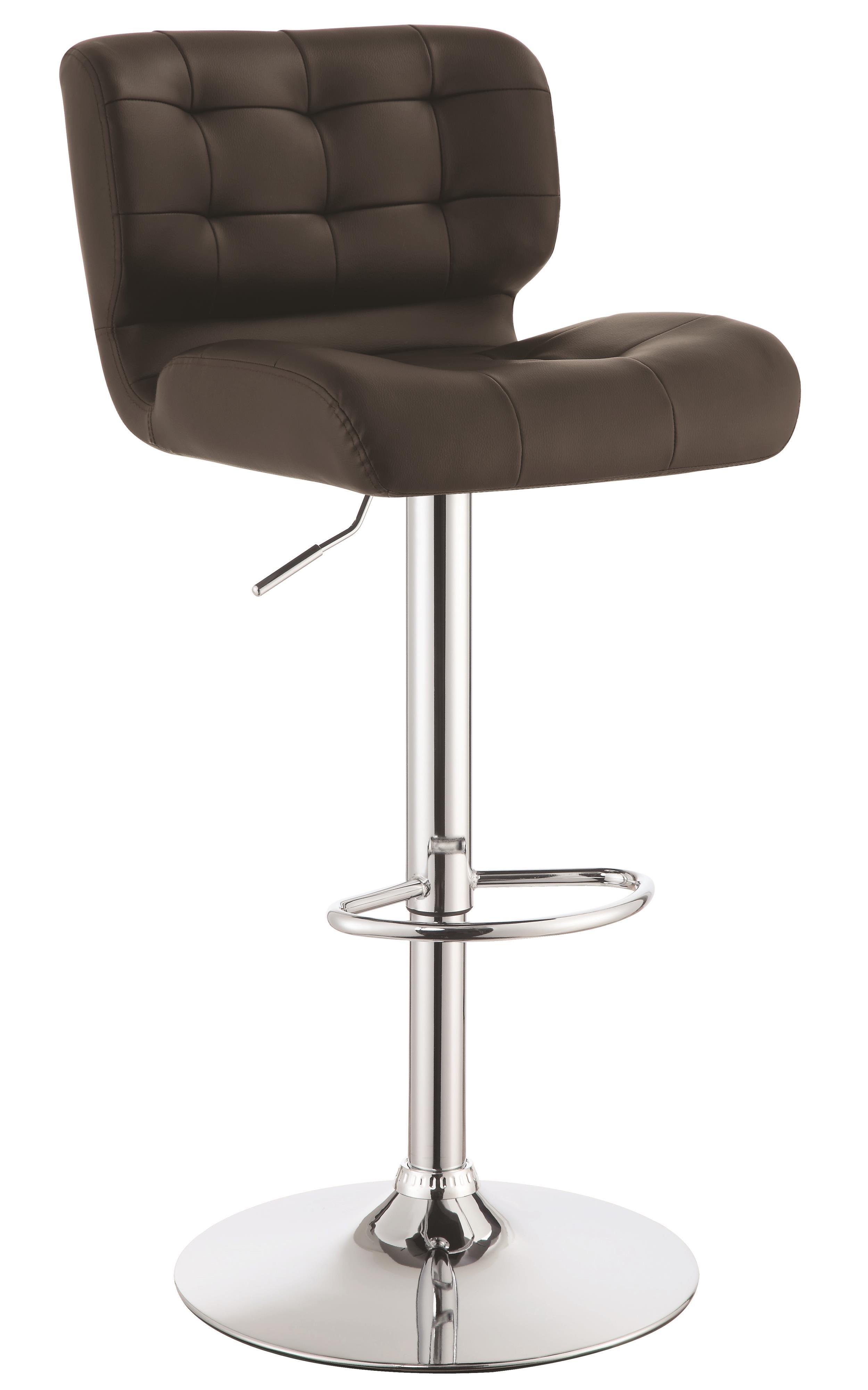 brown adjustable bar stool set of 2 from coaster 100544 coleman furniture. Black Bedroom Furniture Sets. Home Design Ideas