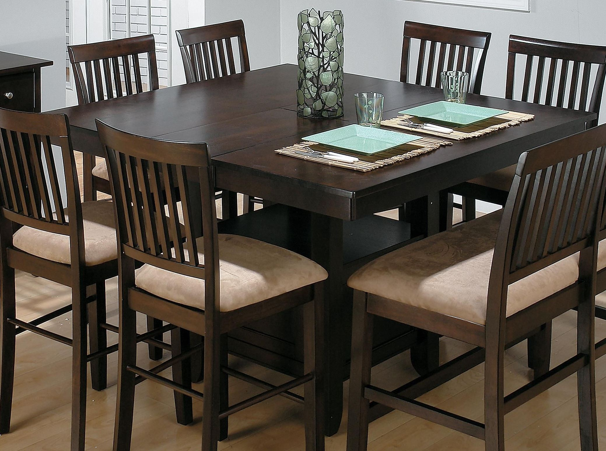baker 39 s cherry storage counter height dining table 373 55tbkt jofran. Black Bedroom Furniture Sets. Home Design Ideas