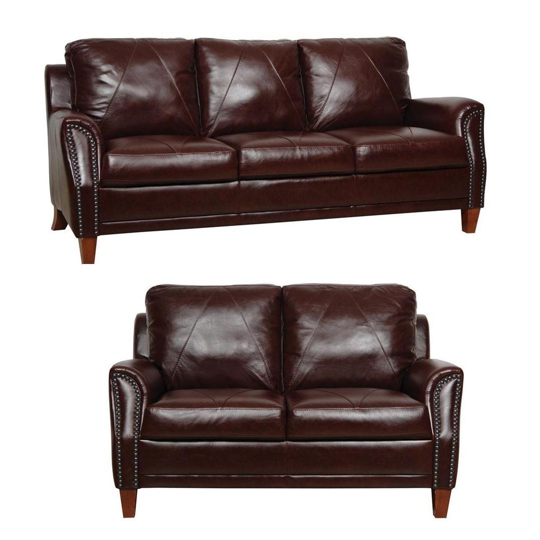 Living Room Furniture: Austin Sienna Italian Leather Living Room Set From Luke