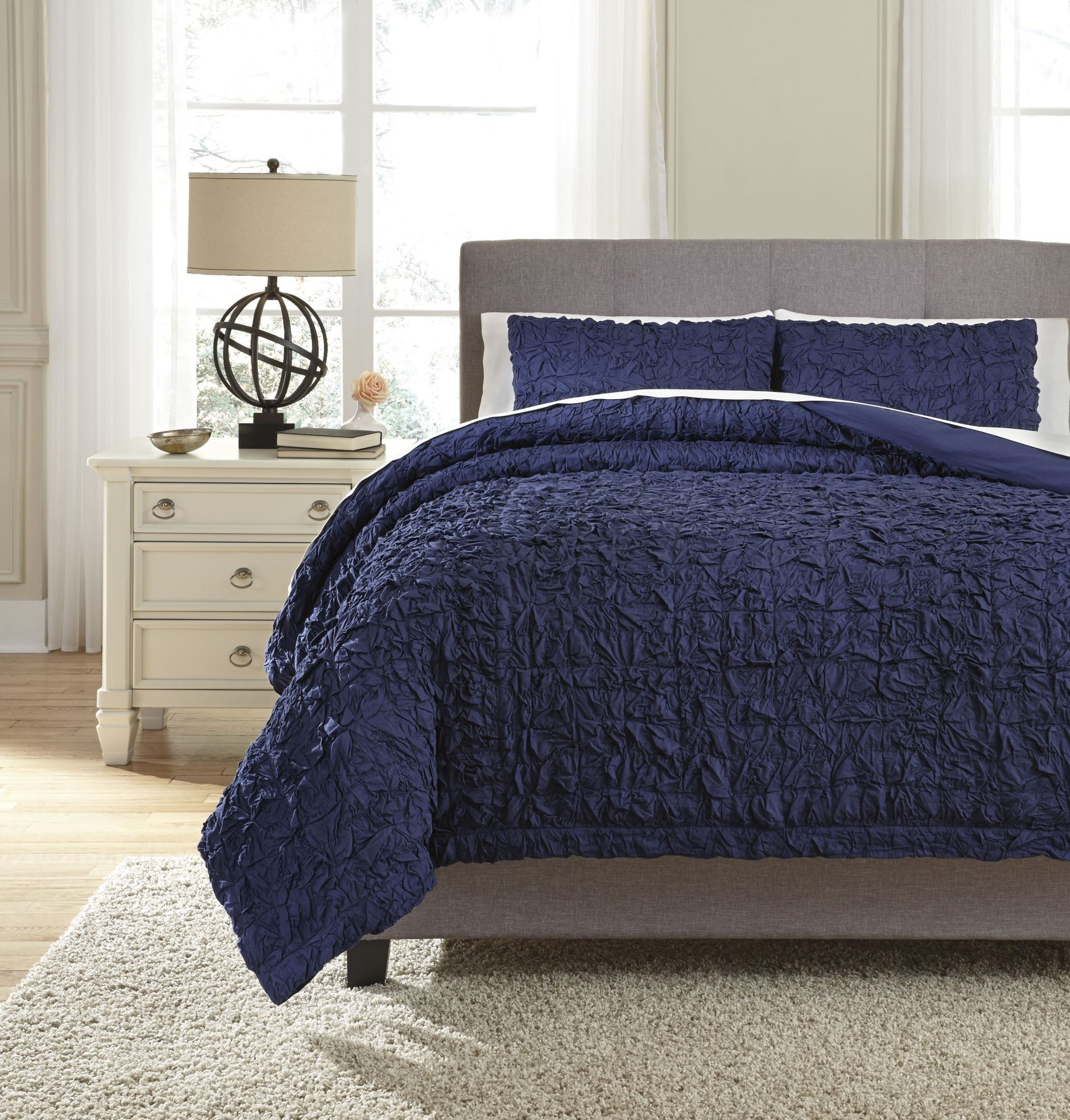 Marksville Indigo King Duvet Cover Set From Ashley