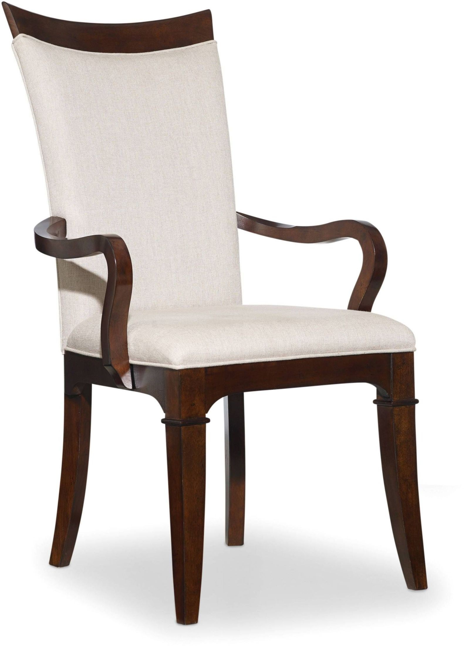 Palisade beige upholstered arm chair set of 2 from hooker for Arm of chair