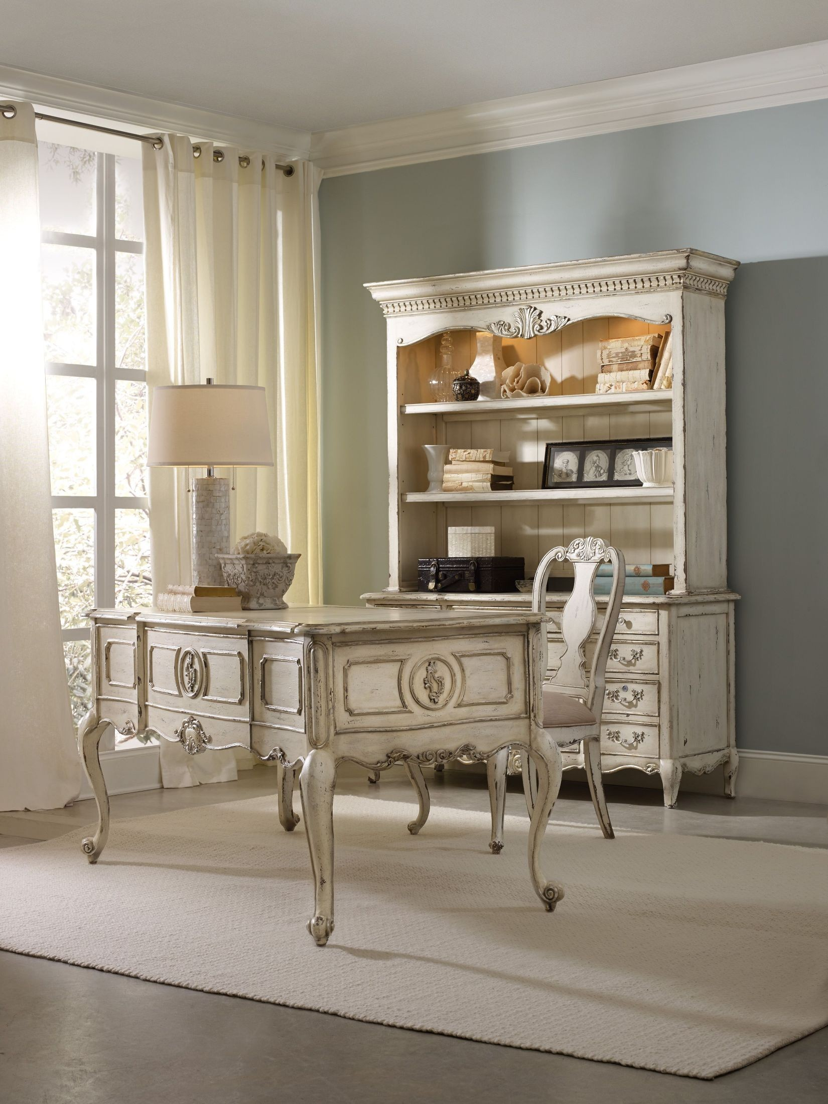 La maison white home office set from hooker coleman for A la maison furniture