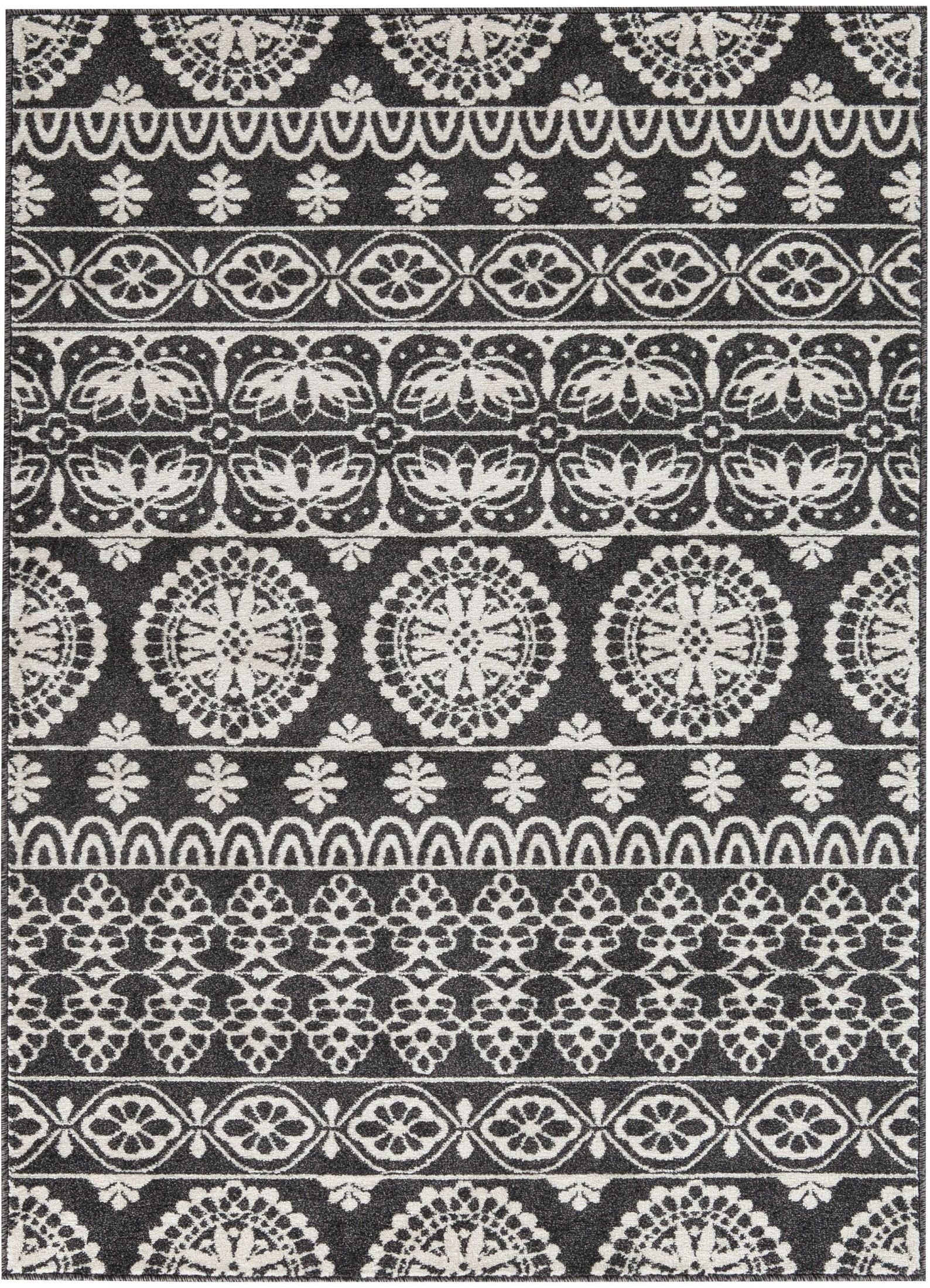 Jicarilla black and white small rug from ashley coleman - Black and white rug ...
