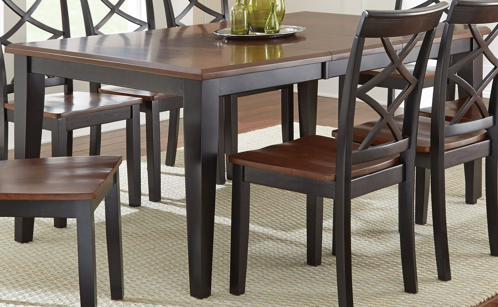 Rani Two Tone Extendable Rectangular Dining Table From