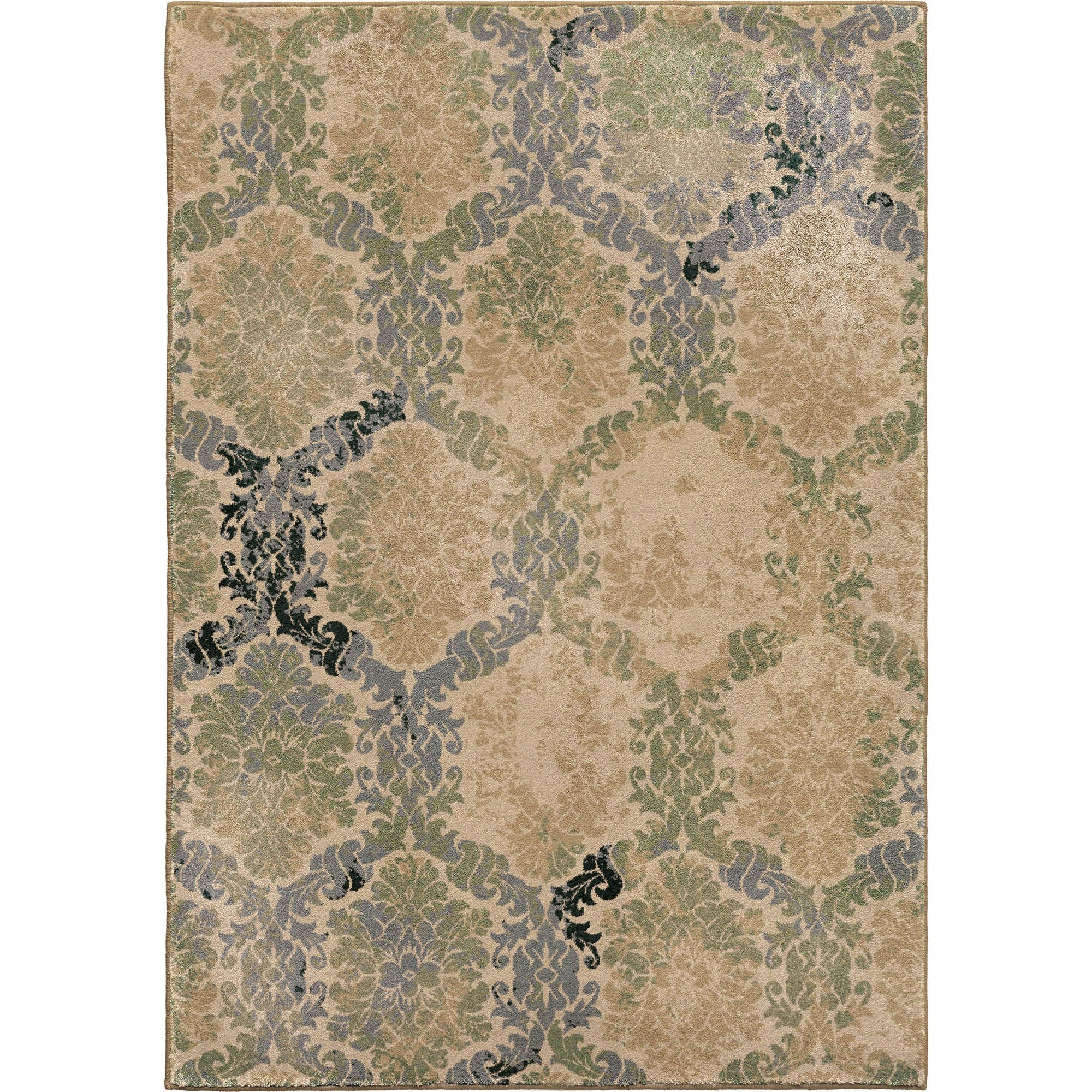 Discount 8x11 Area Rugs: Oxfordburst Green Large Rug From Orian (3205 8x11