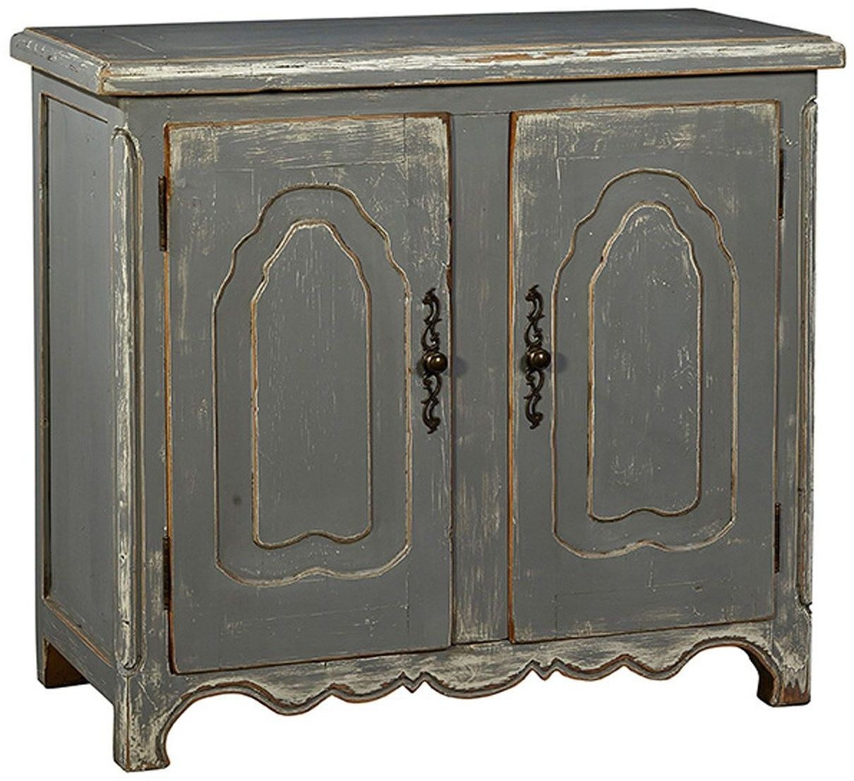 Grey Distressed Kitchen Cabinets: Verdugo 2 Door Distressed Gray Cabinet From Furniture