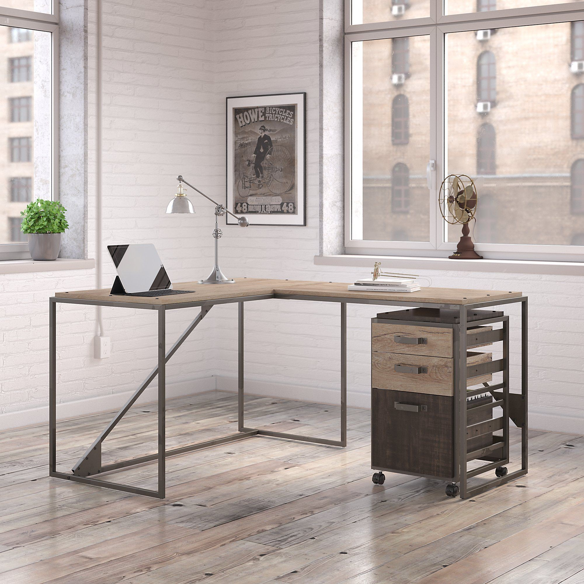 desk top imagination computer glass grey gray ikea writing hutch supreme with wood
