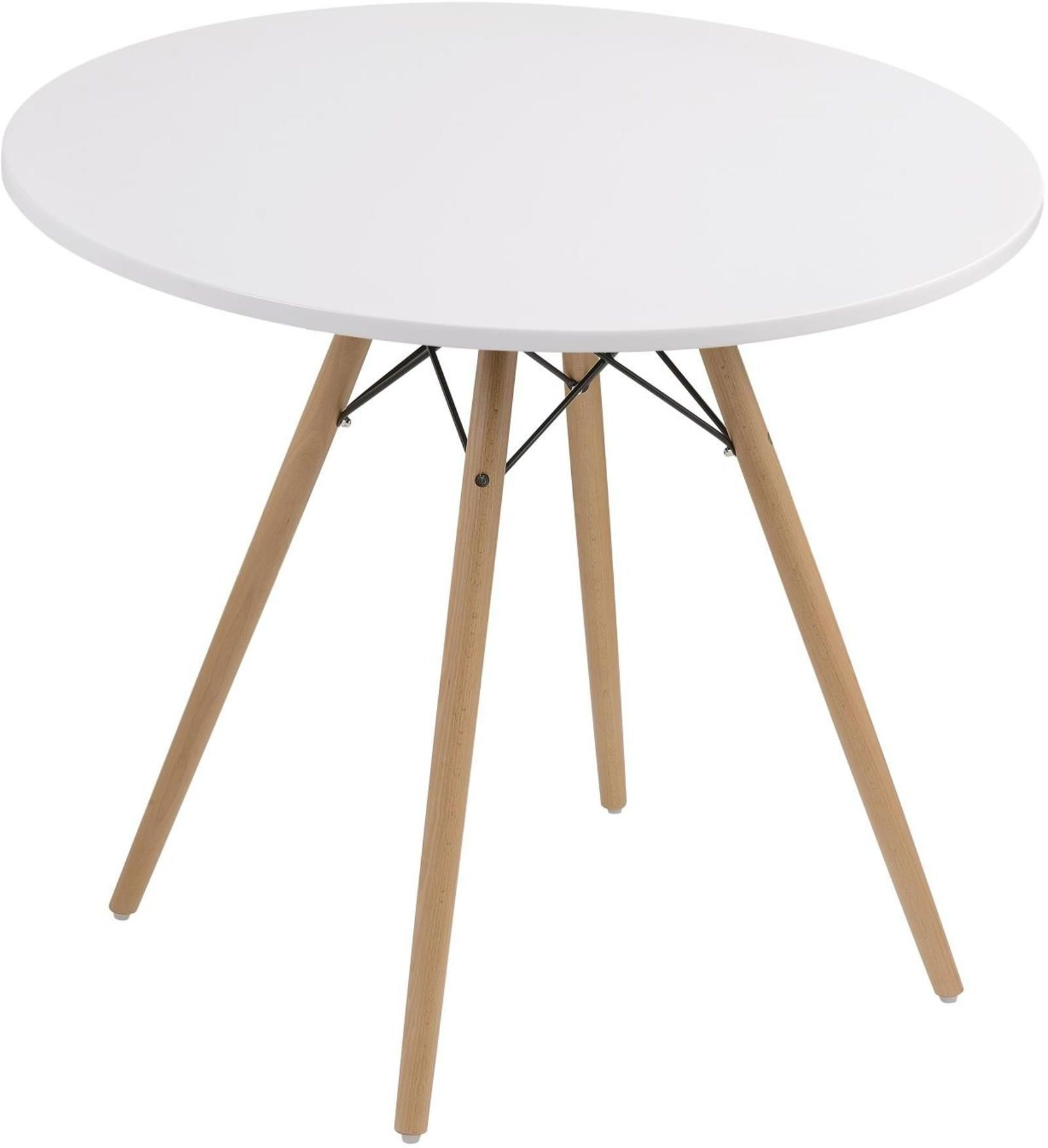 Annette White 40 Round Dining Table From Emerald Home Coleman Furniture