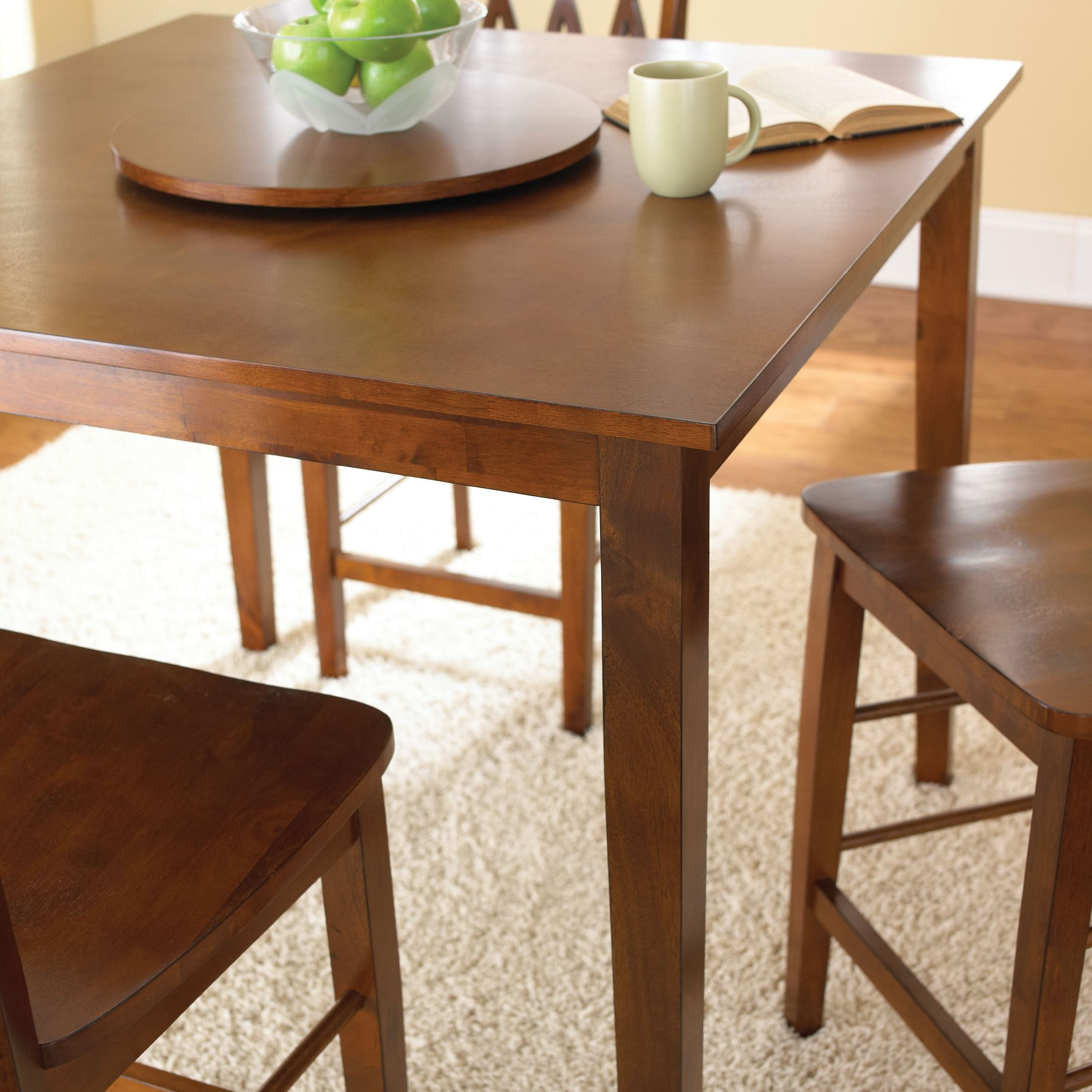 Kitchen Furniture Richmond: Richmond Fruitwood 5 Piece Counter Height Dining Set From
