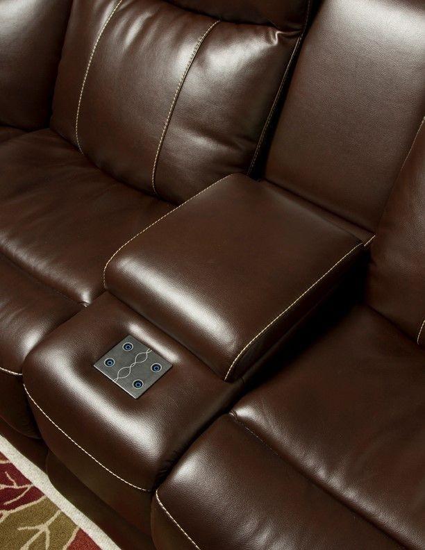 Genesis Black Leatheraire Fabric Power Reclining Home