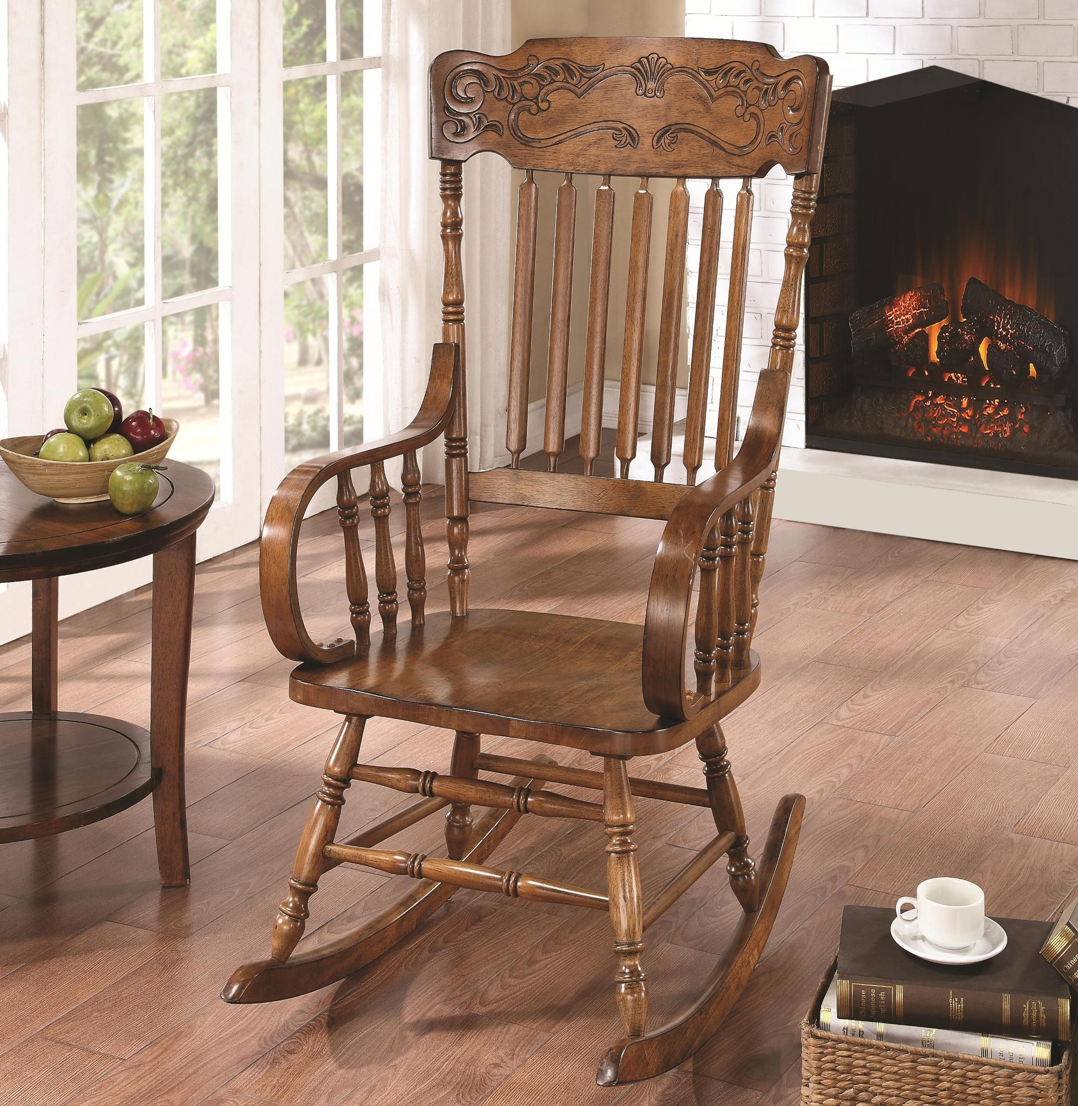 600175 Wooden Rocking Chair from Coaster (600175 ...