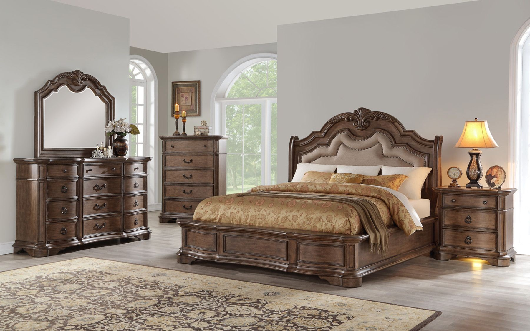 tulsa light sandstone platfrom bedroom set from avalon