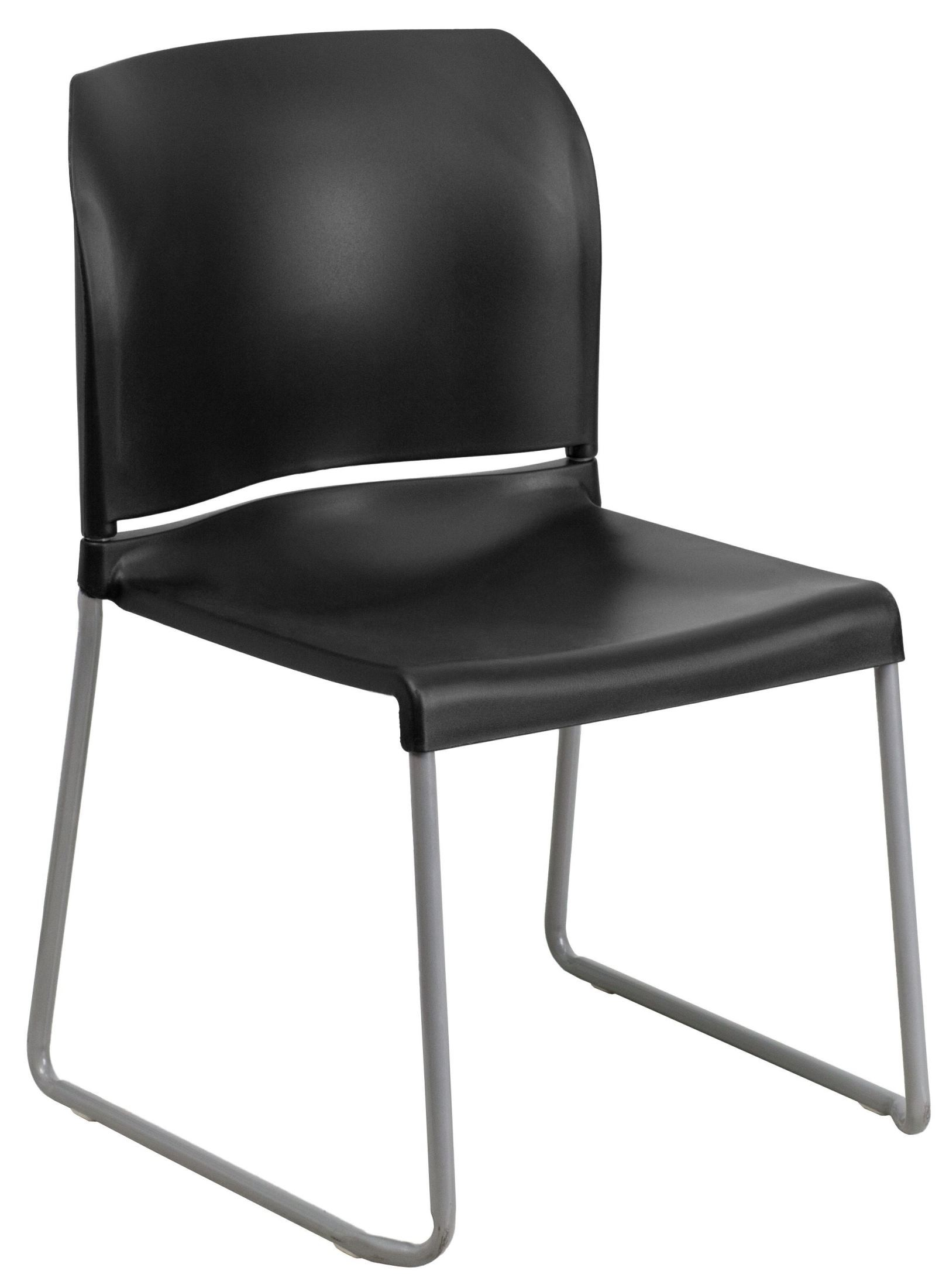 Hercules Series Black Full Back Contoured Stack Chair With