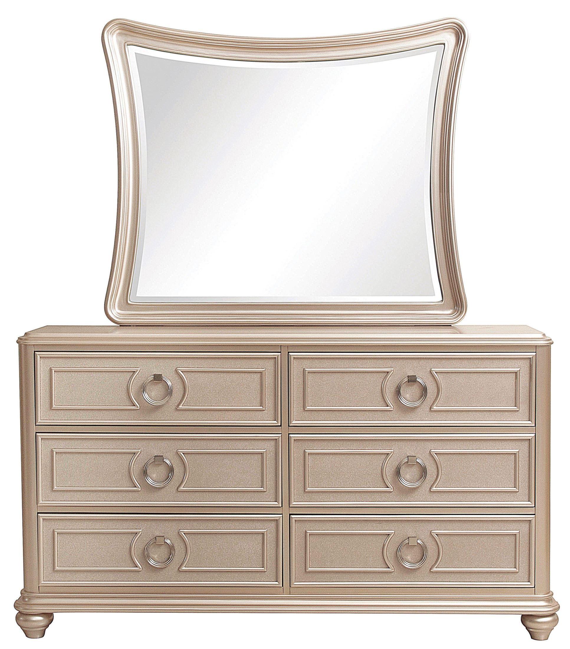Dynasty Gold Metallic Upholstered Platform Bedroom Set From Samuel Lawrence Coleman Furniture