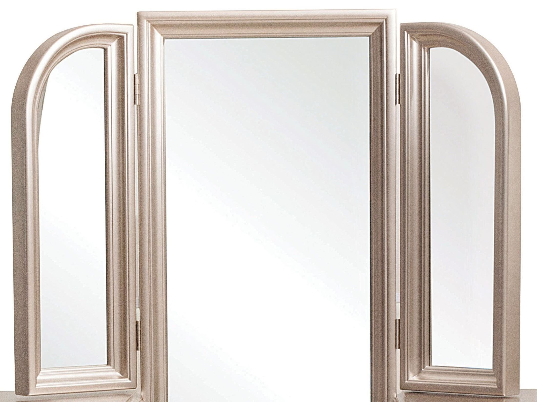 Dynasty Gold Metallic Vanity Tri View Mirror From Samuel