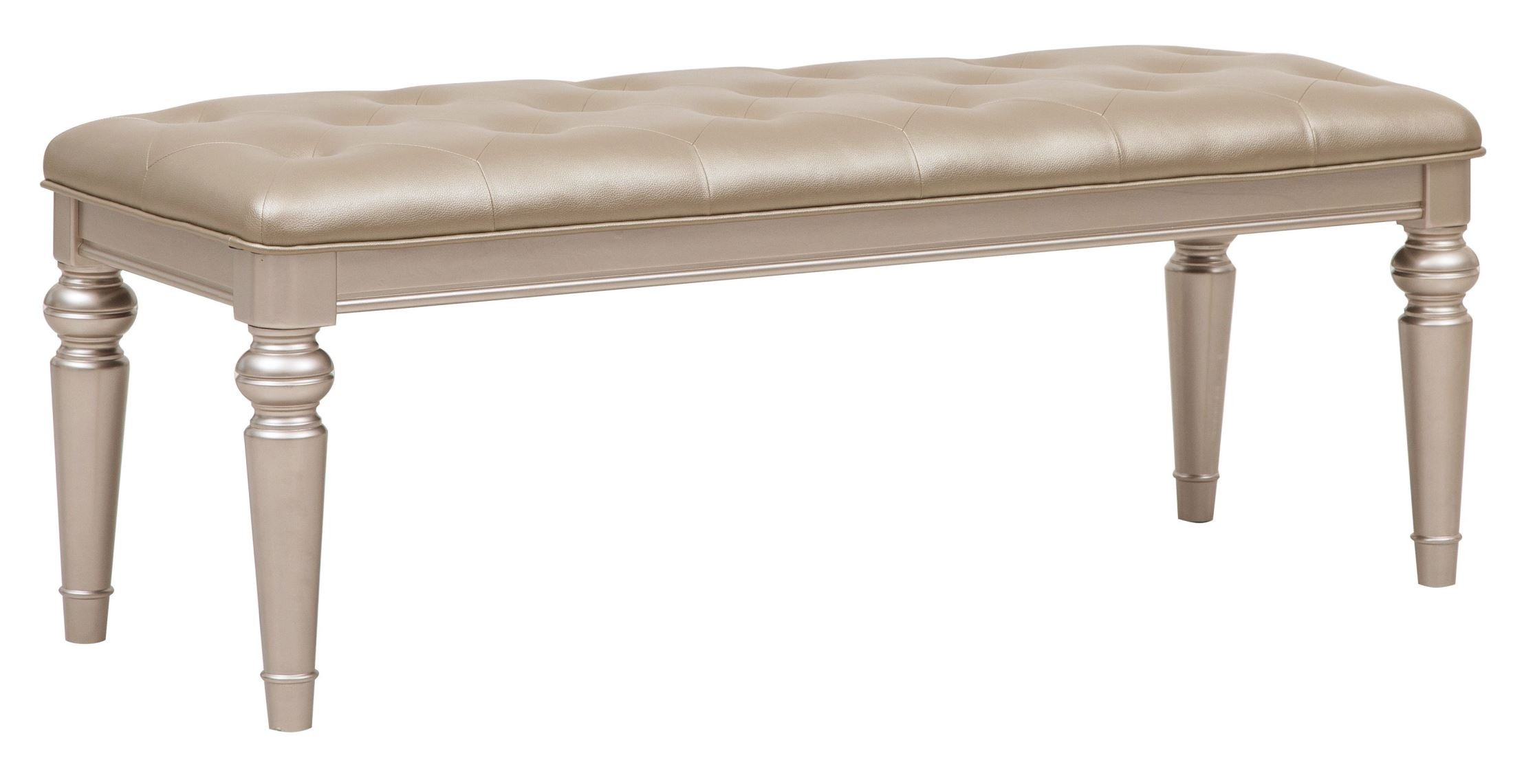 Bench By Bed: Dynasty Gold Metallic Bed Bench From Samuel Lawrence