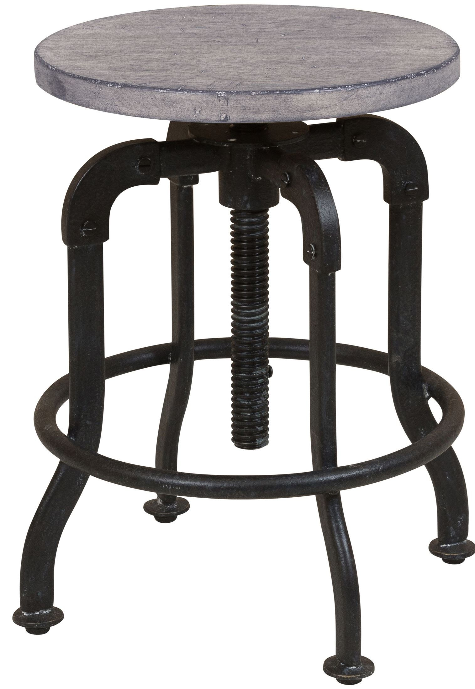 Prospect Hill Gray Metal And Wood Stool From Samuel