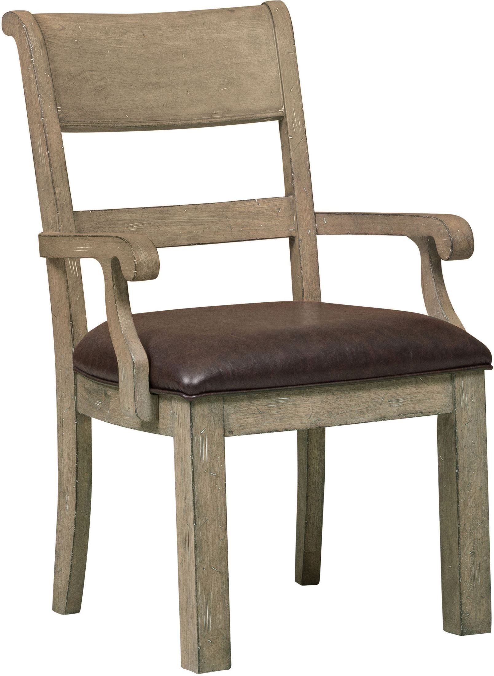 Flatbush brown arm chair set of 2 from samuel lawrence for Arm of chair