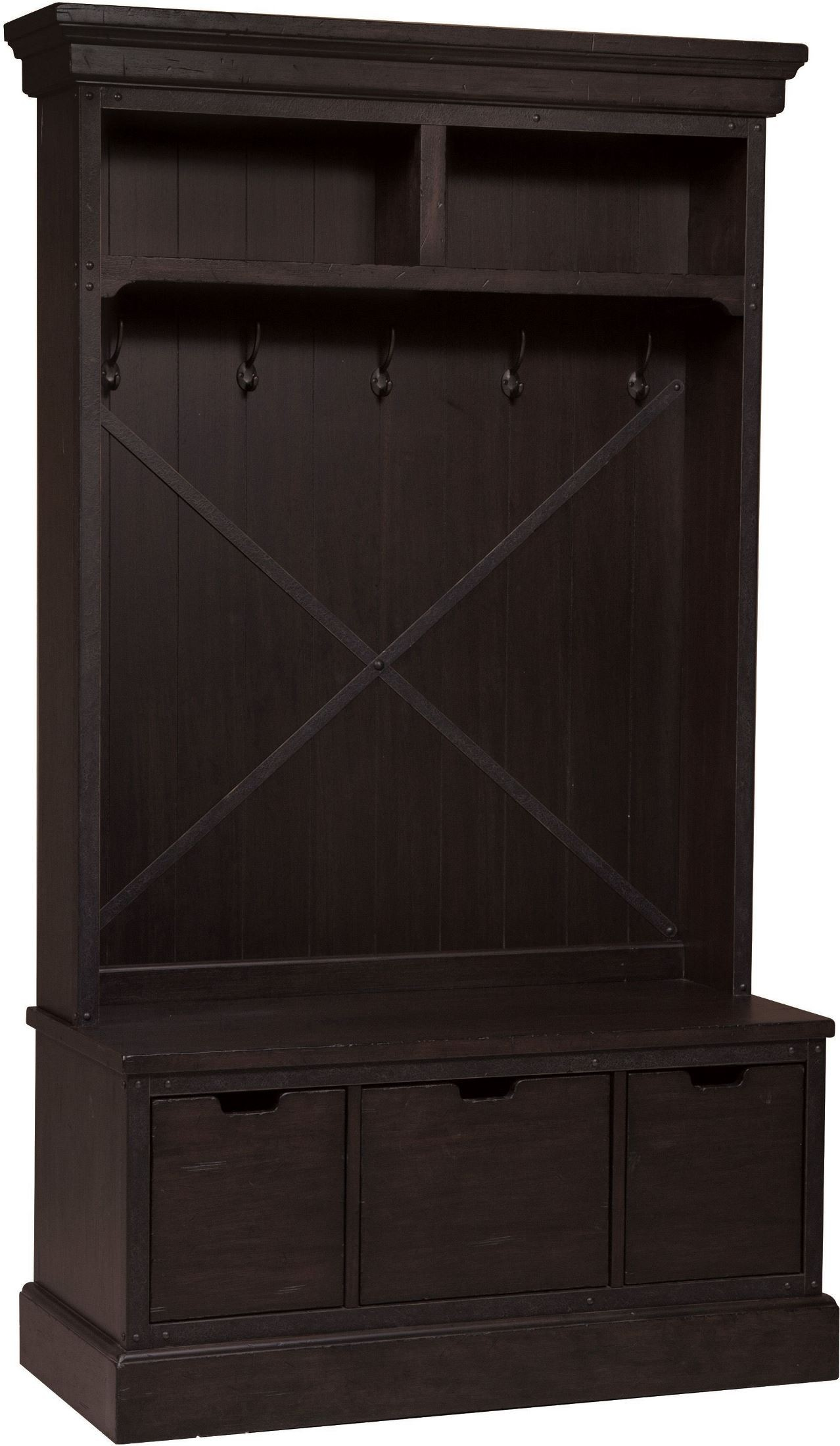 Fulton St. Brown Entryway Storage Bench From Samuel Lawrence | Coleman  Furniture