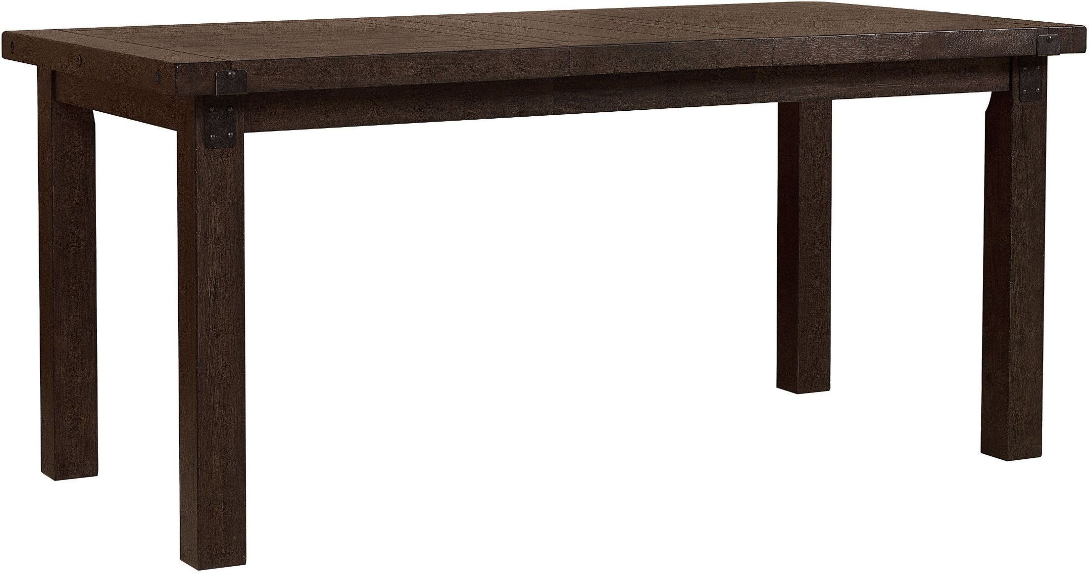 Fulton St Brown Rectangular Counter Height Dining Table
