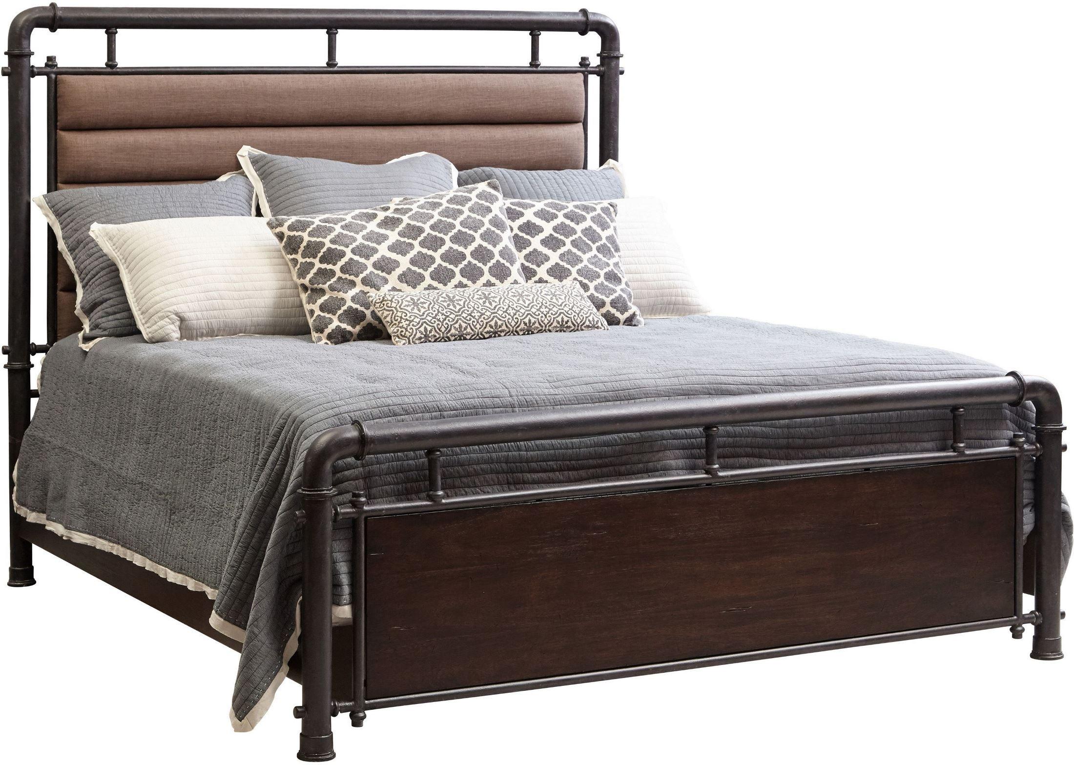 Queen Metal Bed: Fulton St. Brown Queen Metal Bed From Samuel Lawrence
