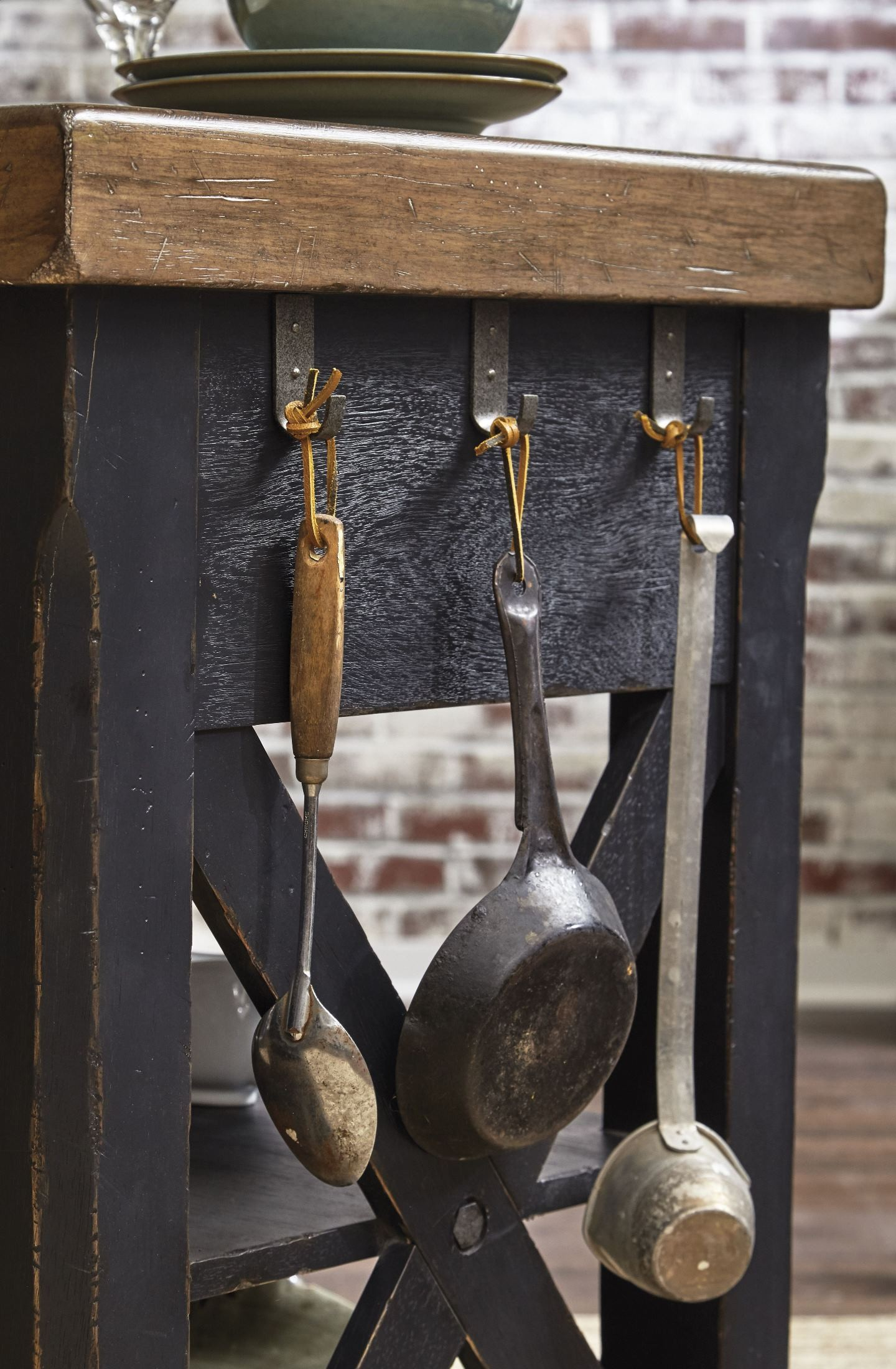 Urban Accents Black Kitchen Island from Samuel Lawrence Coleman